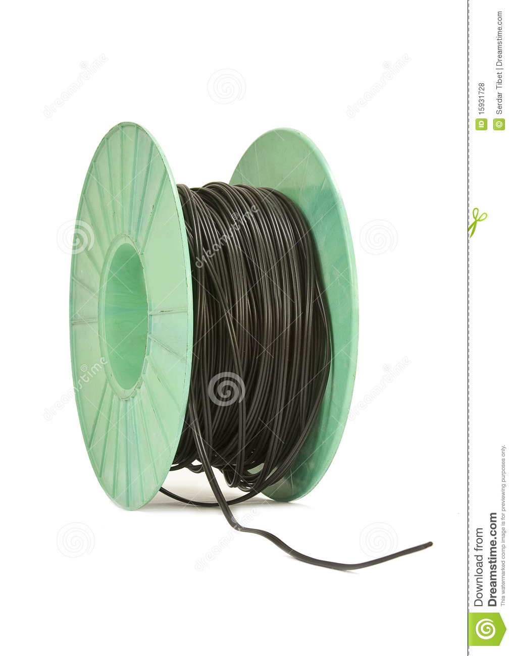 Electrical Wire Bundle : Black wire bundle royalty free stock photos image