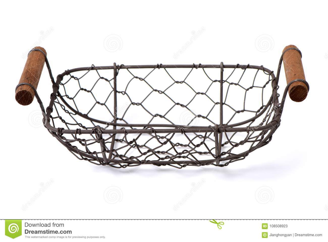 Wire egg basket stock image. Image of kitchenware, path - 108508923