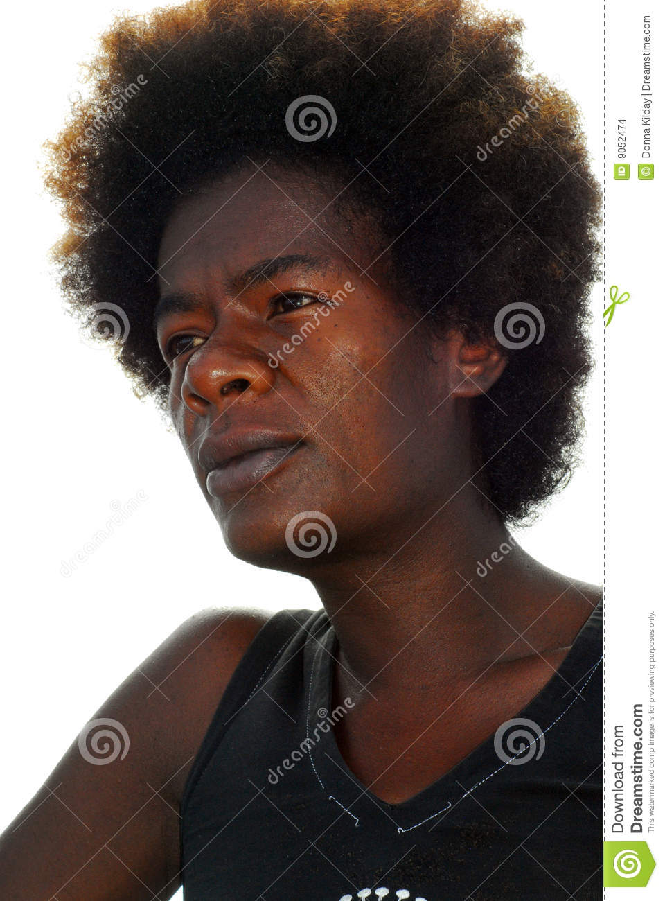 Black Girls Killing It: Black Woman With Afro Hair Stock Images