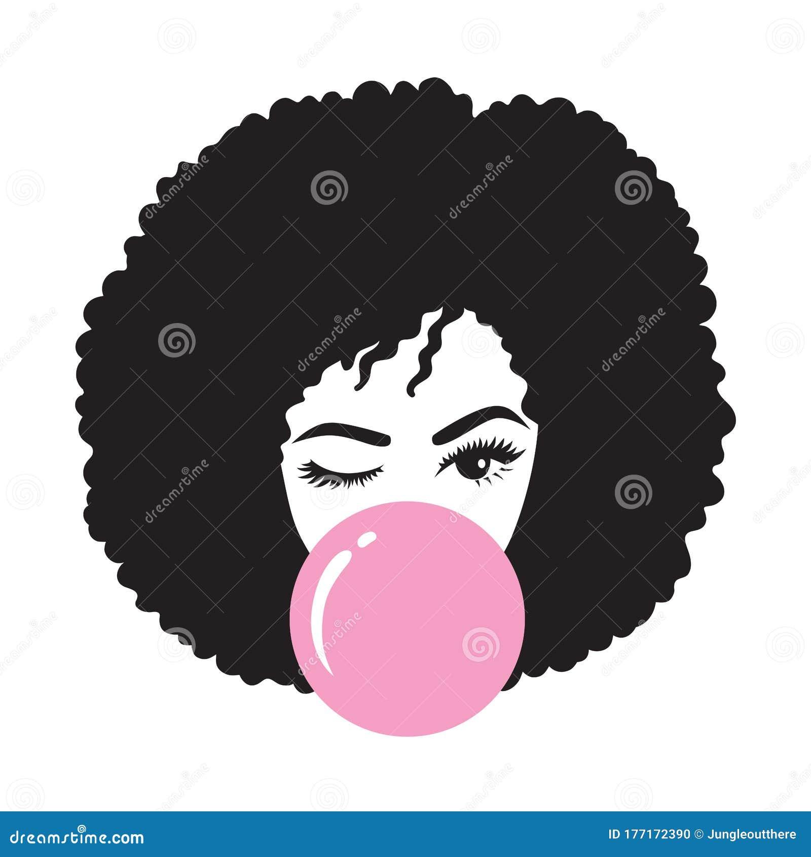 Girl afro vector black African American