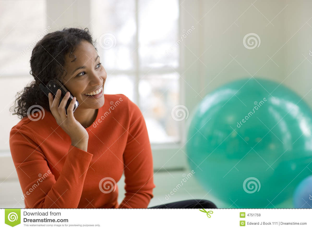 Black woman on cell phone