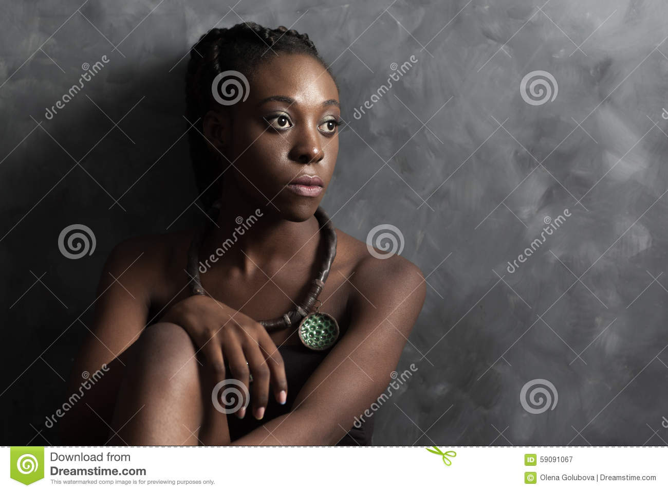 woman looking to the right