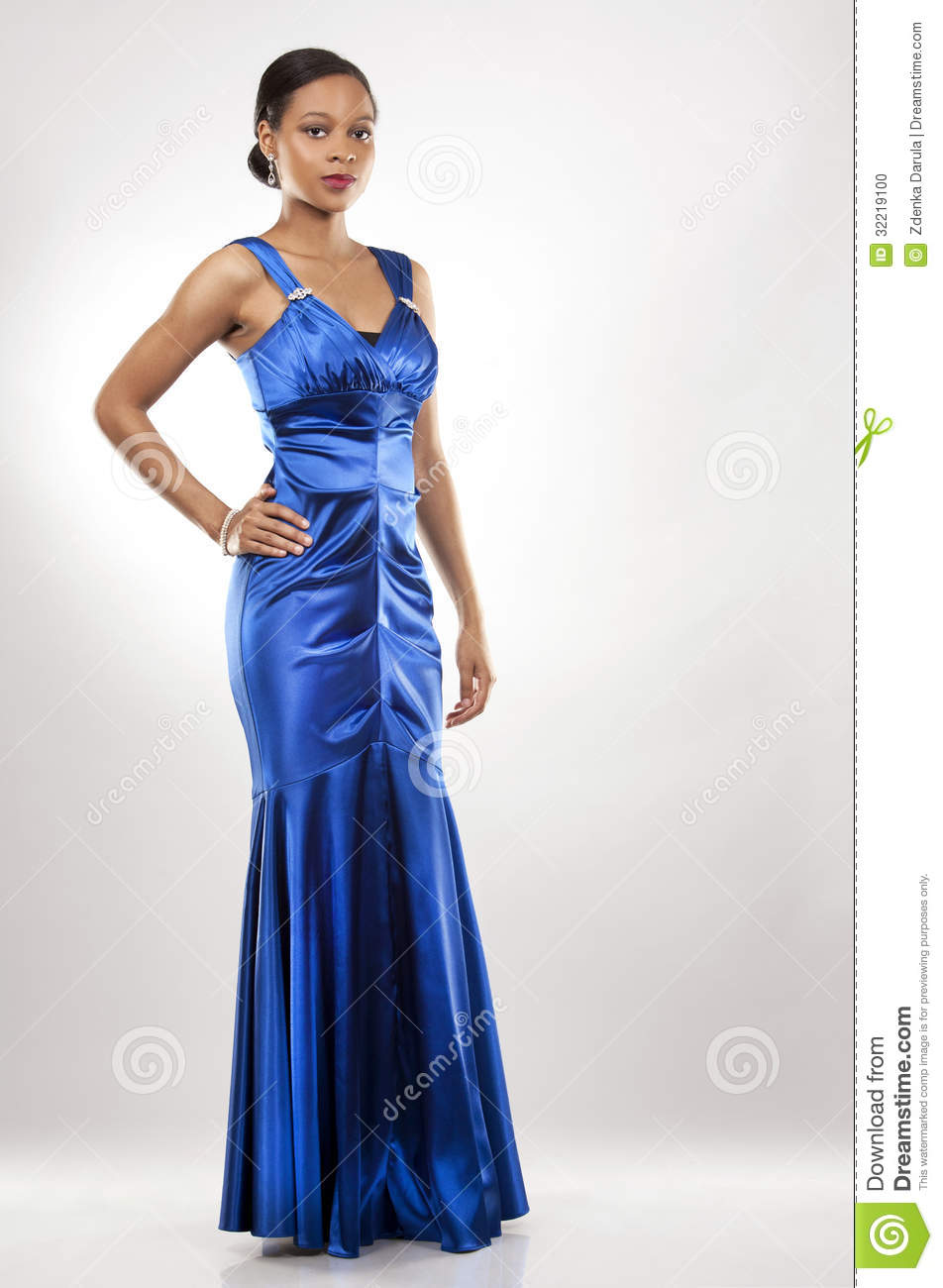 Black Woman In Evening Gown Stock Photo - Image of upscale, cute ...