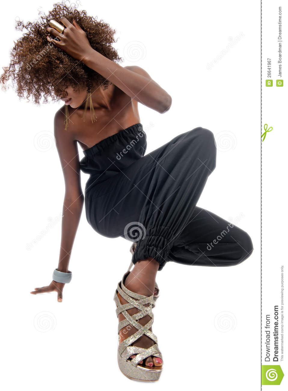 Black Woman With Long Legs Royalty Free Stock Photography