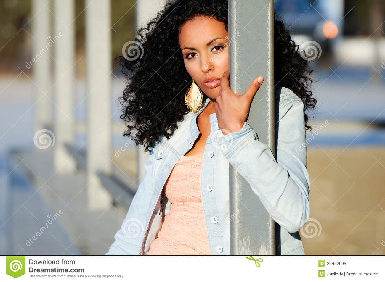 Black Woman, Model Of Fashion In Urban Background Royalty Free Stock ...