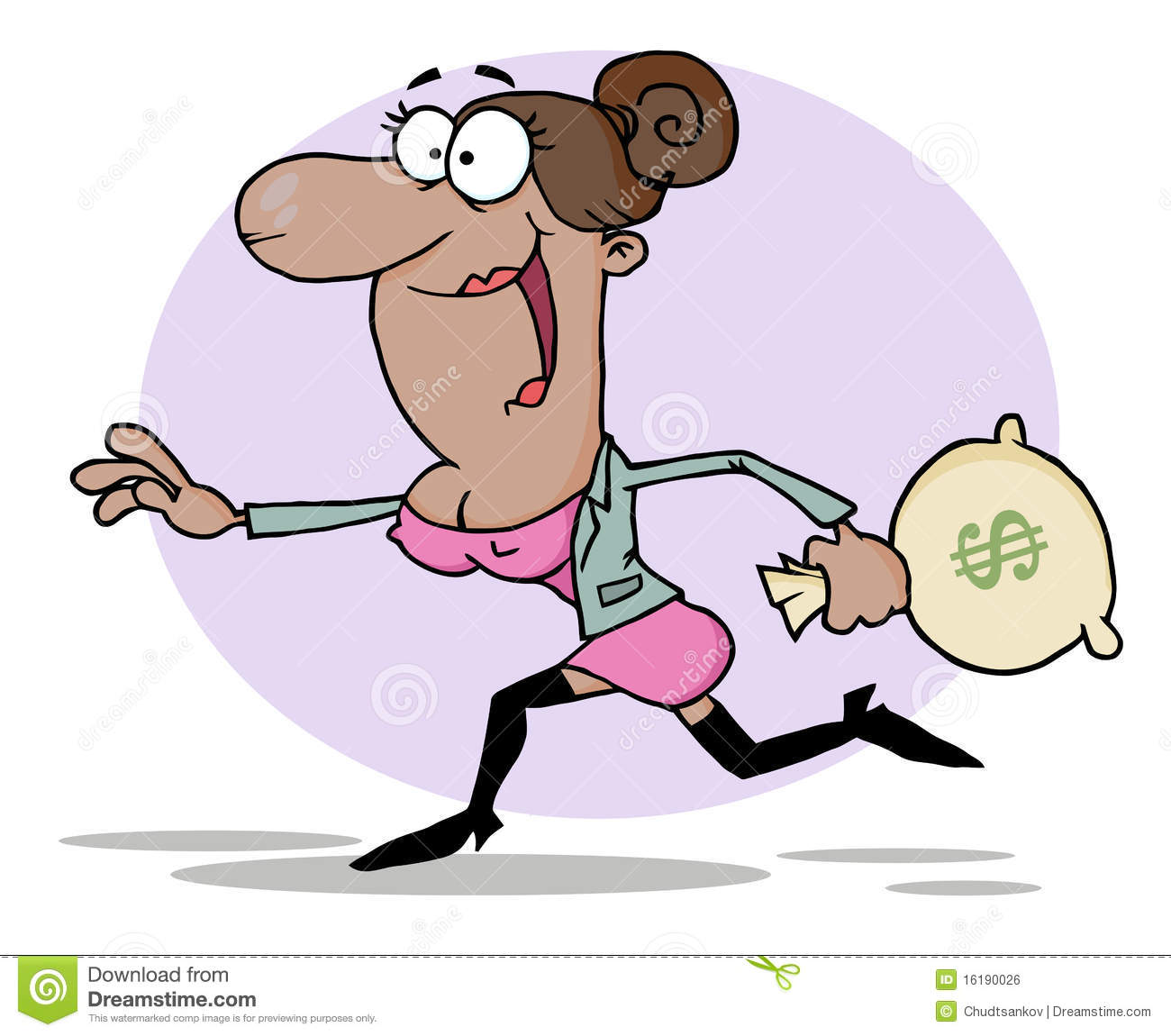 Money Running Away - A Cartoon Illustration Of A Bag Of Money.. Royalty  Free Cliparts, Vectors, And Stock Illustration. Image 136827596.