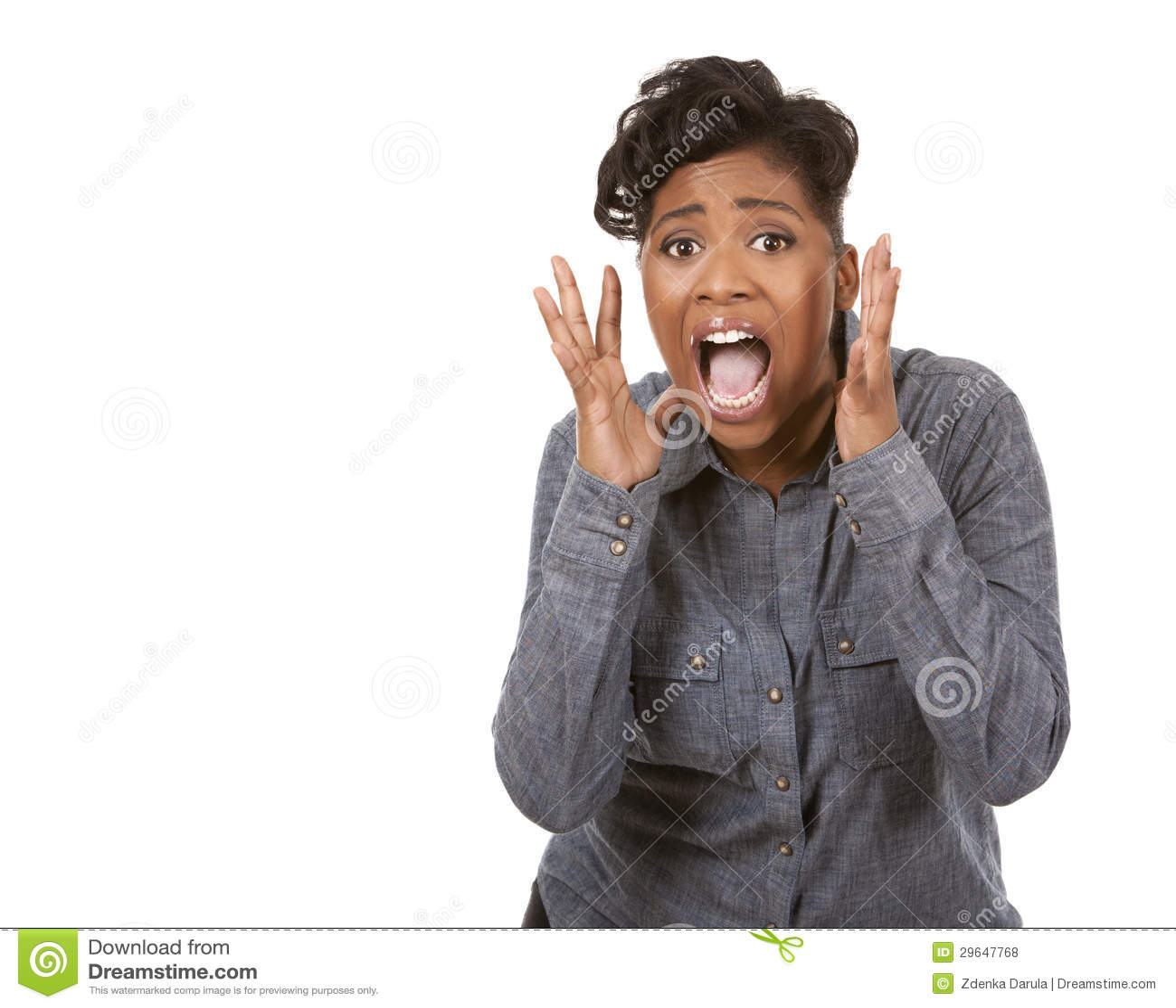 screaming Black woman