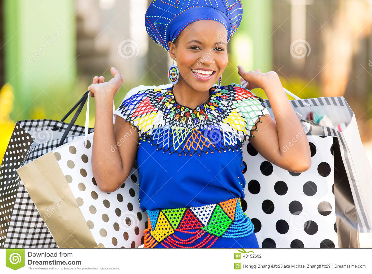 Zulu Woman Black Woman Shopping S...