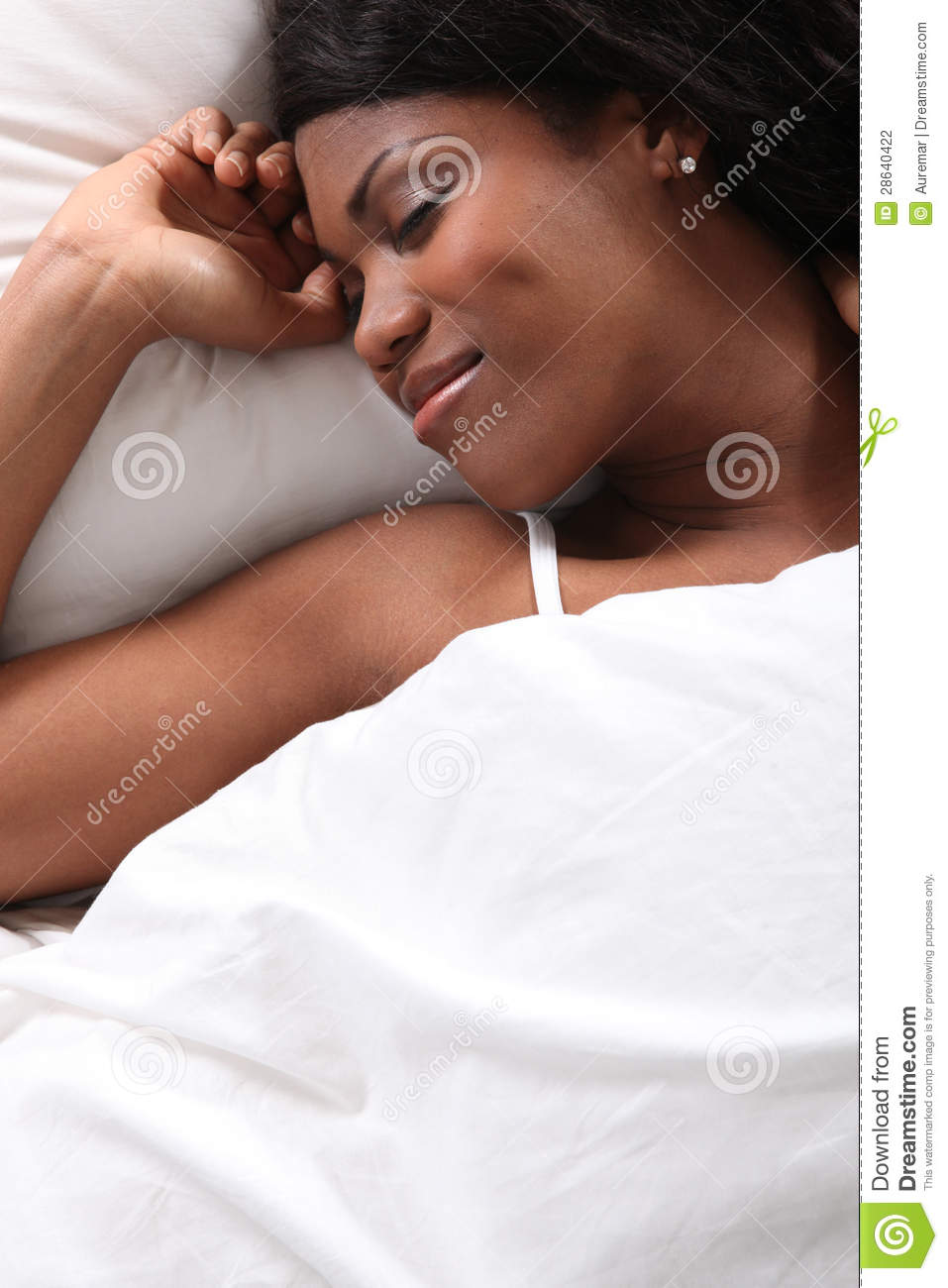 Black Woman Sleeping Stock Photography - Image: 28640422