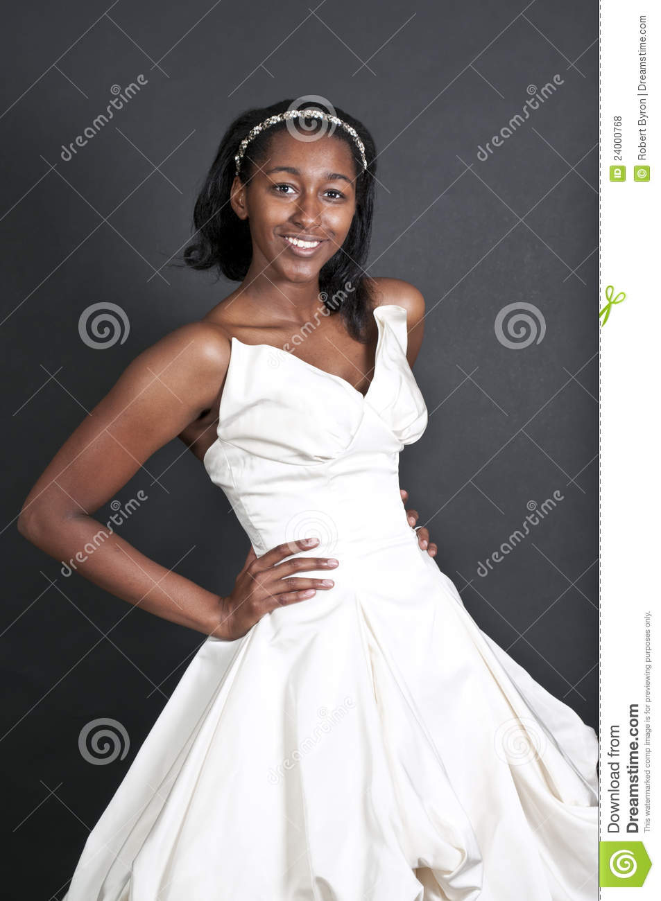 Black Woman In Wedding Dress Stock Photo - Image of newlywed, girl ...