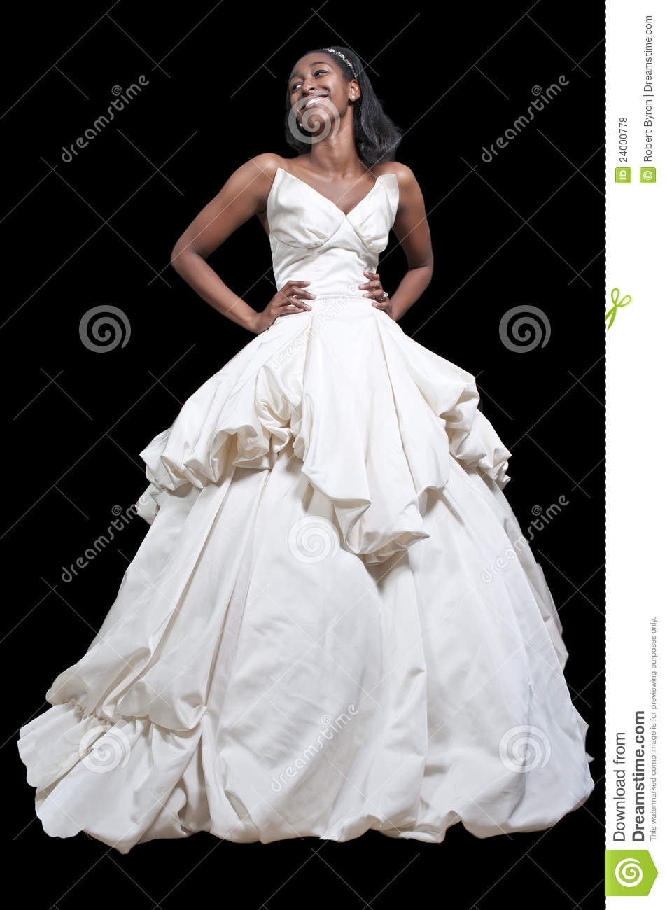 Black Woman In Wedding Dress Stock Photo - Image of marriage ...