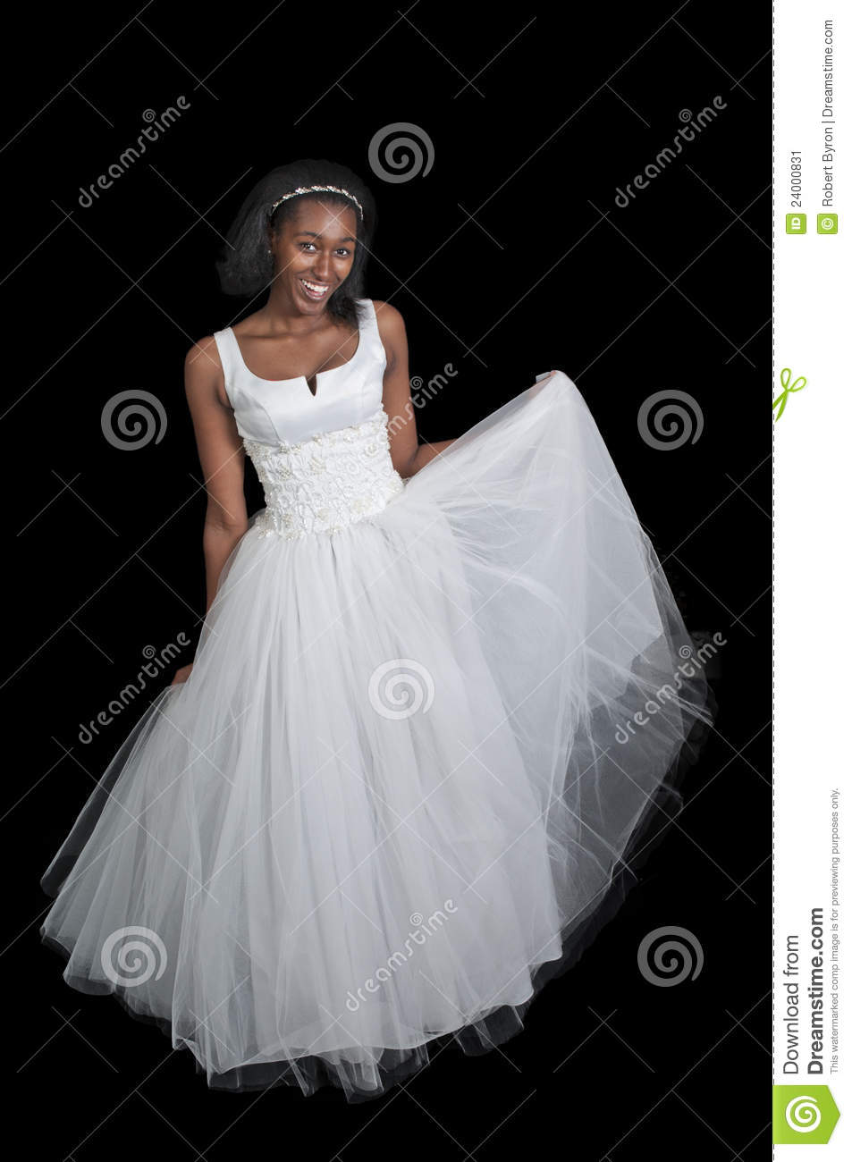 Black Woman In Wedding Dress Stock Image - Image of marry, happiness ...