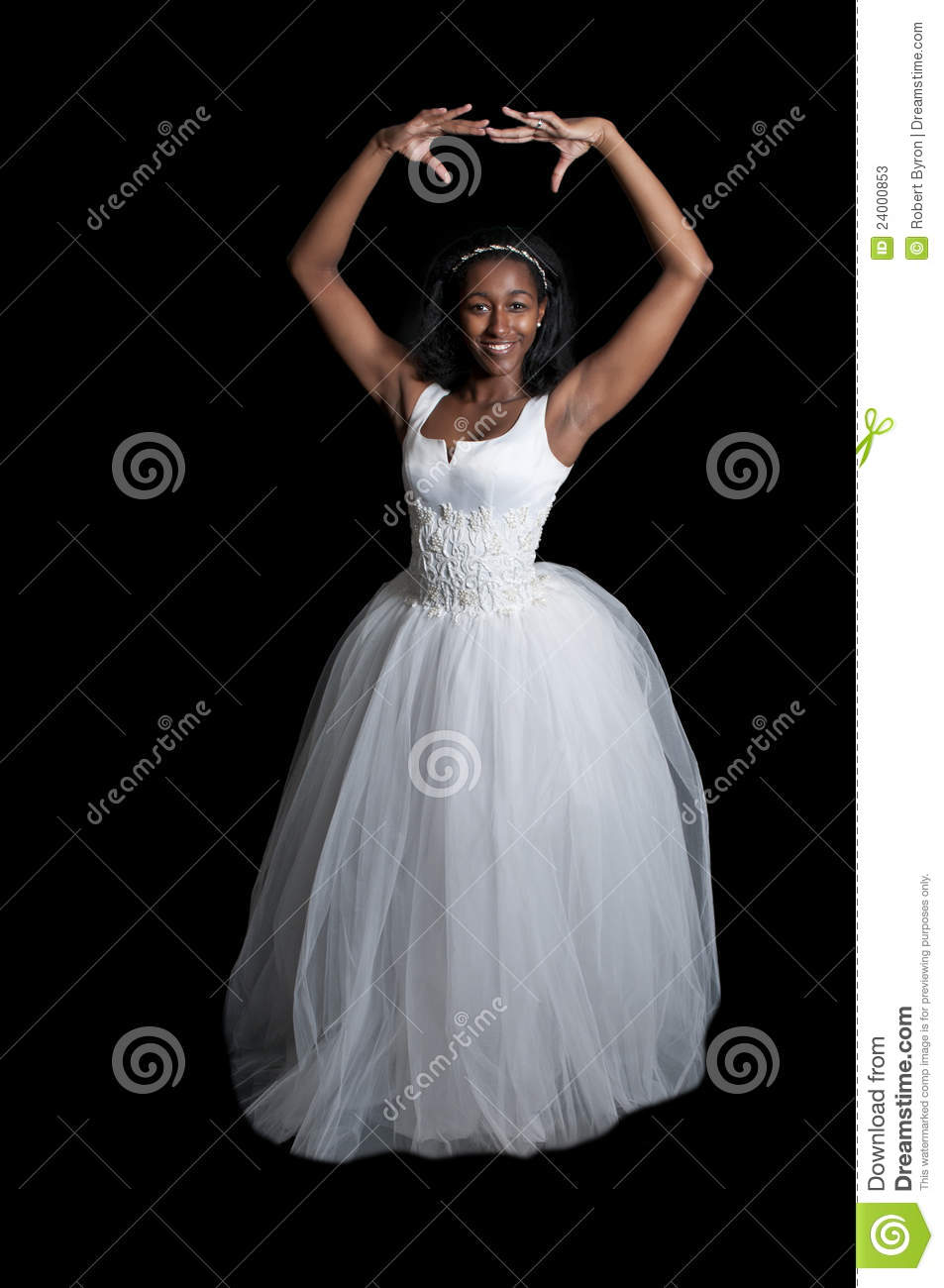 Black Woman In Wedding Dress Stock Image - Image of bridal, ethnic ...