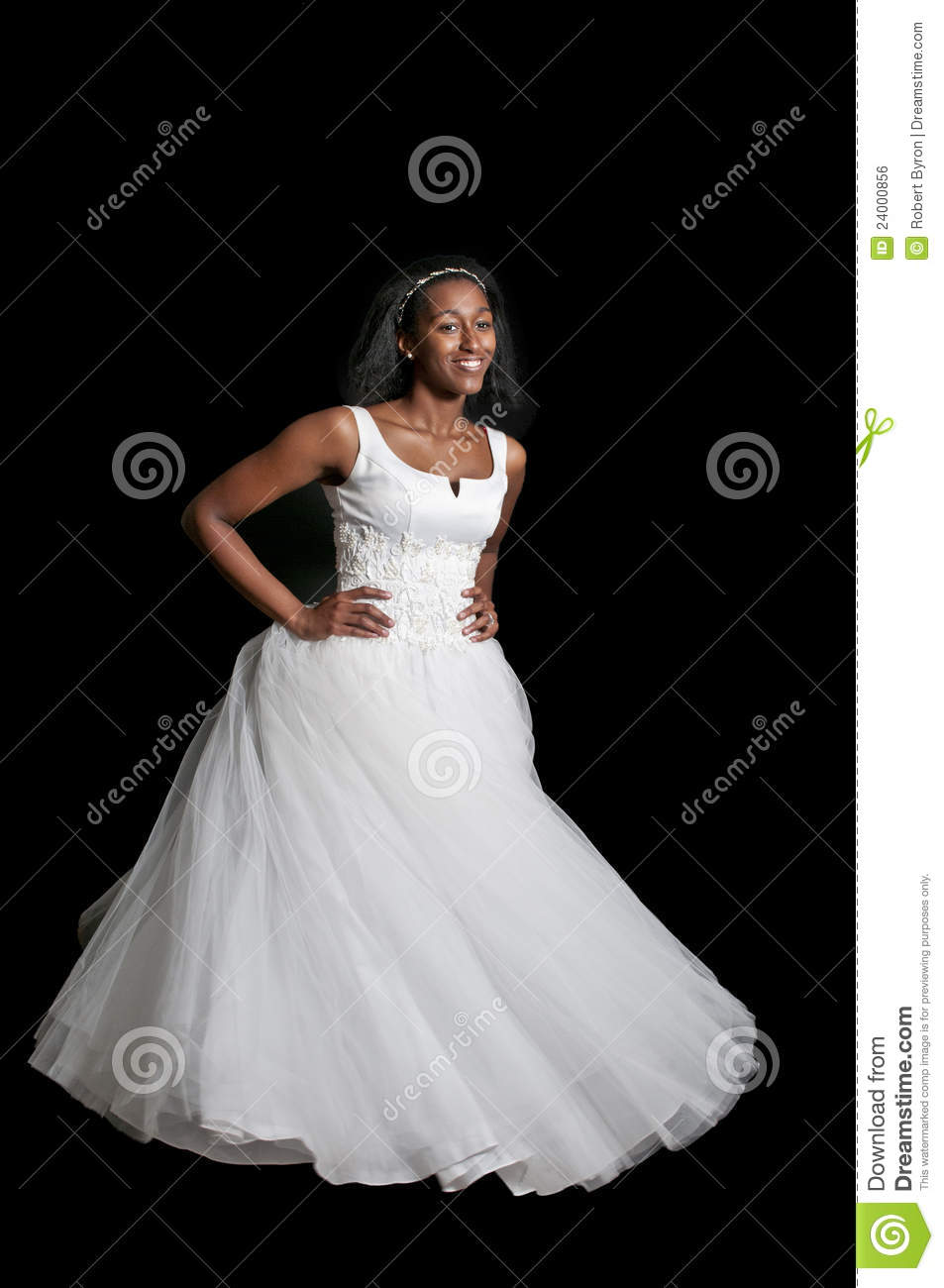 Black Woman In Wedding Dress Stock Photo - Image of married ...