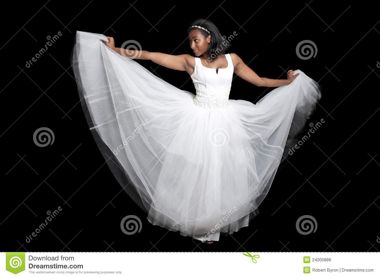 Creative Black Woman In Wedding Dress Stock Image - Image Of Beauty American 24000789