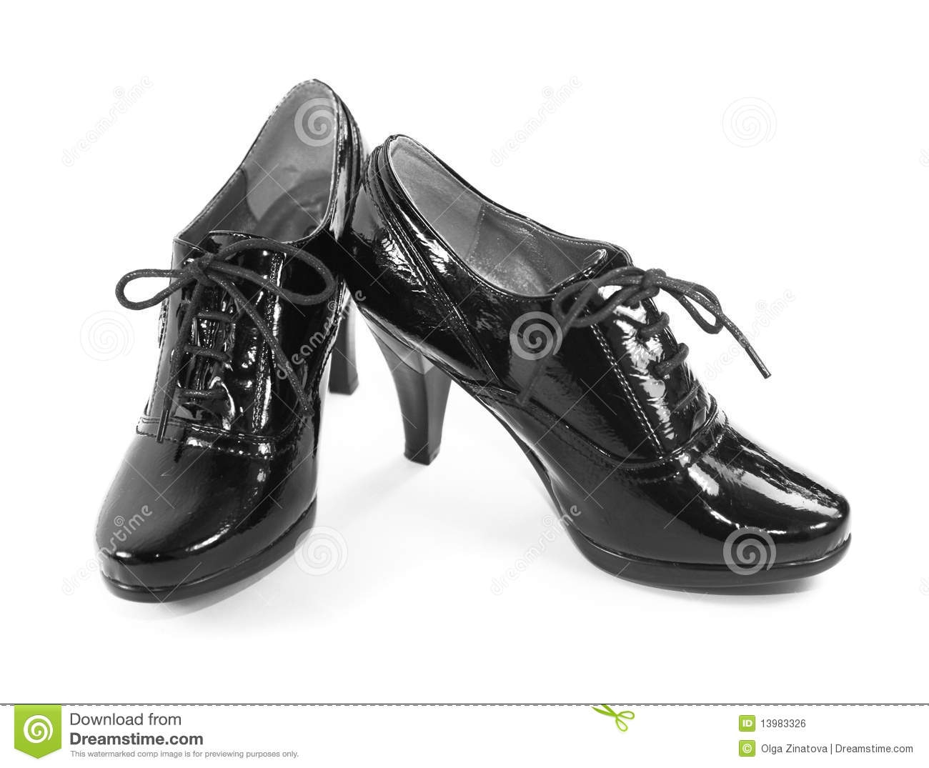Black Women S Patent Leather Shoes Stock Photo Image Of Patent