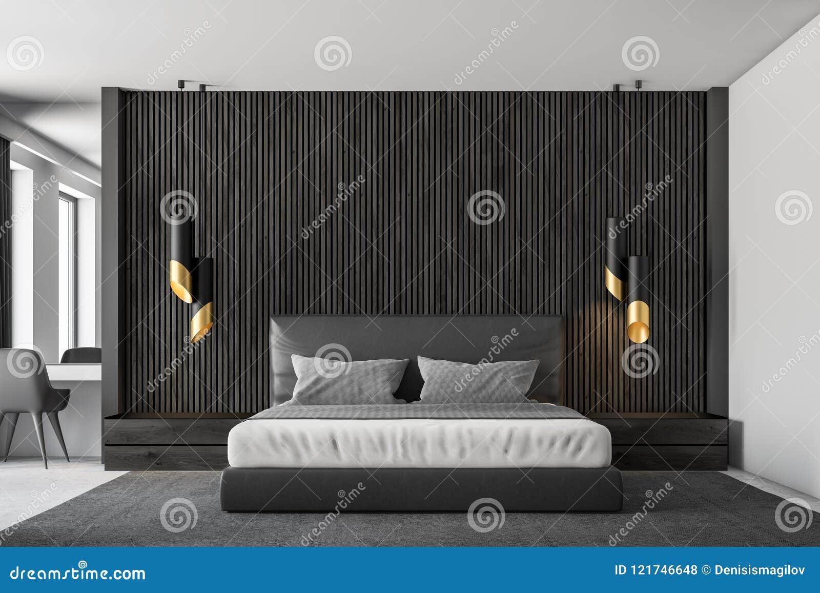 Black Wood Master Bedroom Interior Close Up Stock Illustration Illustration Of Furniture Clear 121746648