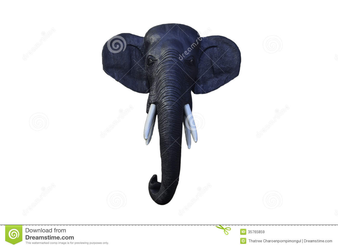 black wooden elephant head royalty free stock images image 35765859