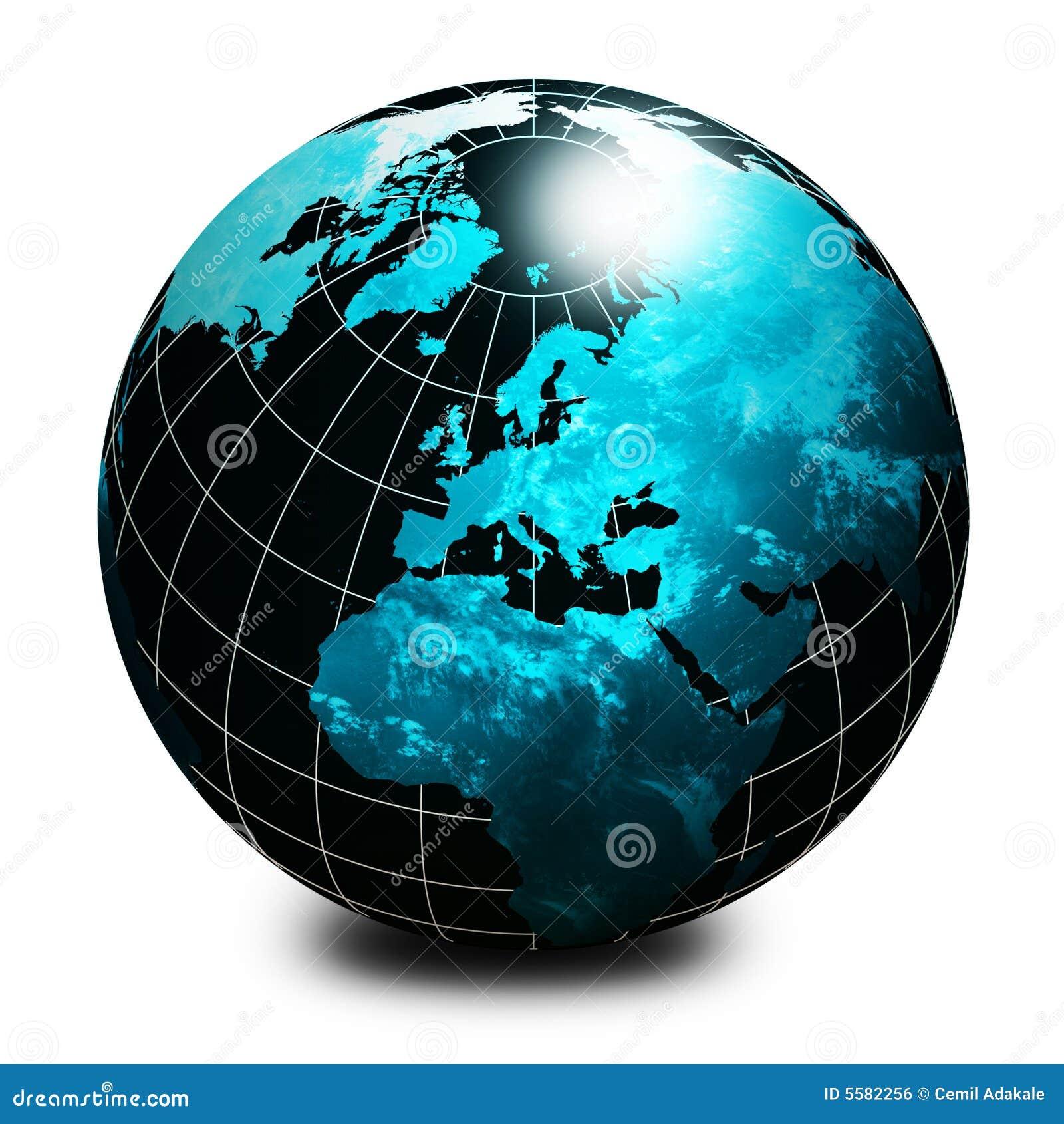 Black world globe stock illustration. Image of europa ...