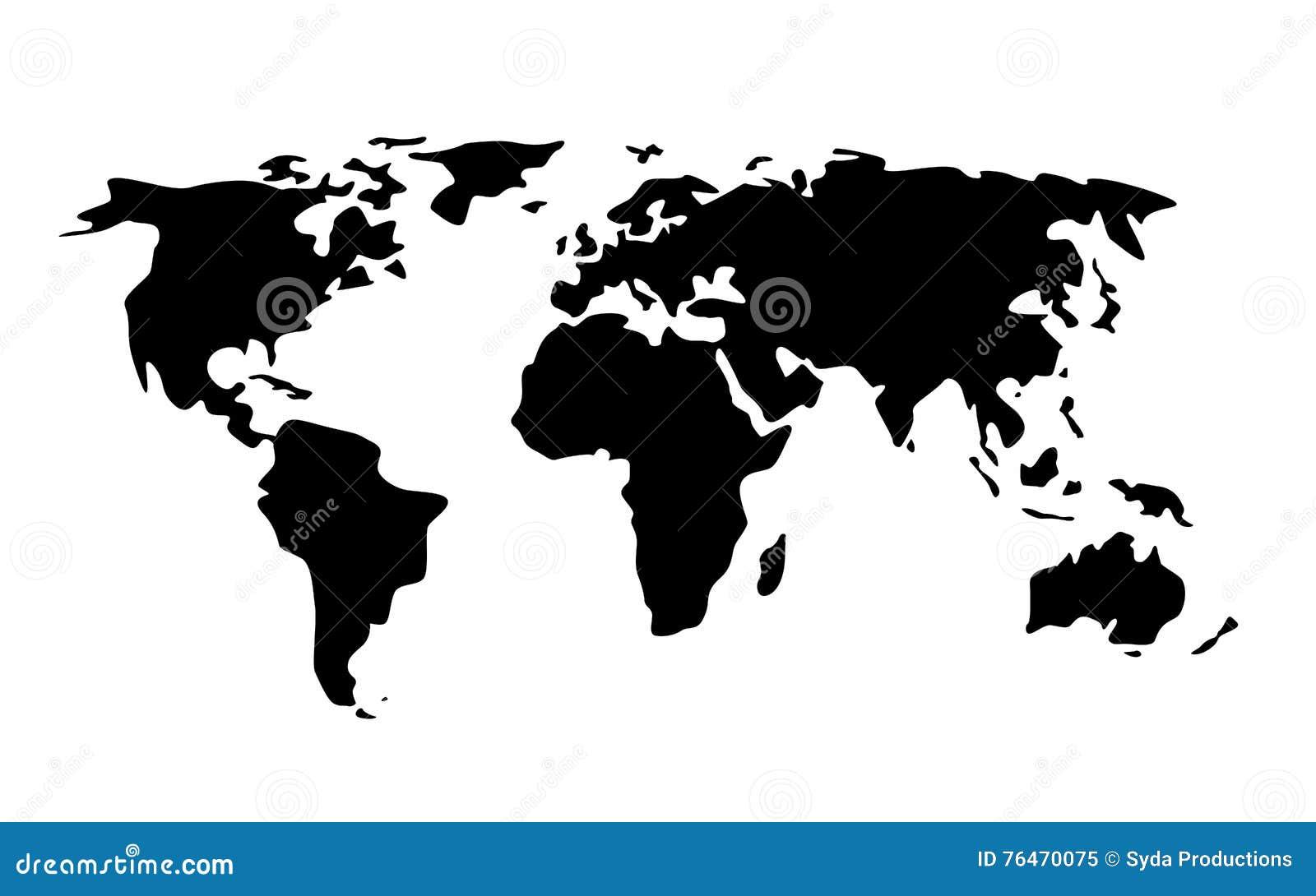 Black world map illustration stock illustration illustration of black world map illustration stock illustration illustration of location asia 76470075 gumiabroncs Gallery