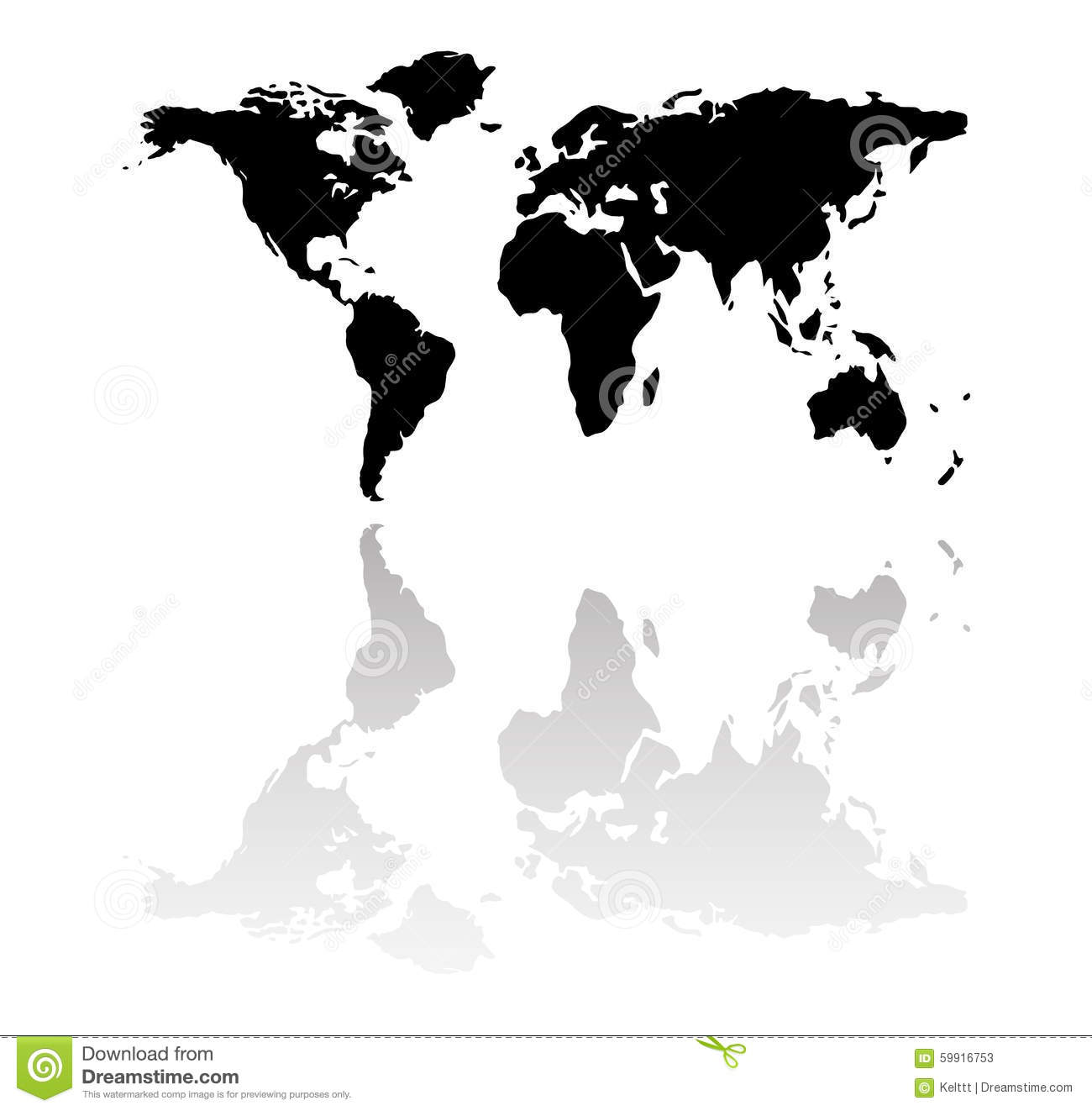 Black world map silhouette stock illustration illustration of info black world map silhouette royalty free illustration gumiabroncs
