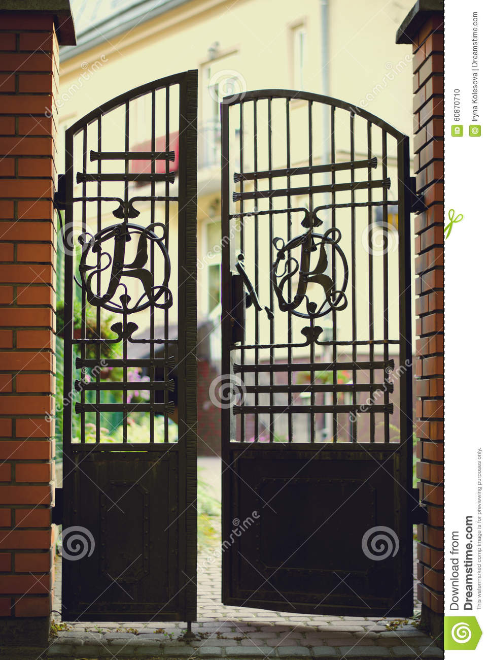 Mansion entrance gates royalty free stock photography - Porches de hierro ...