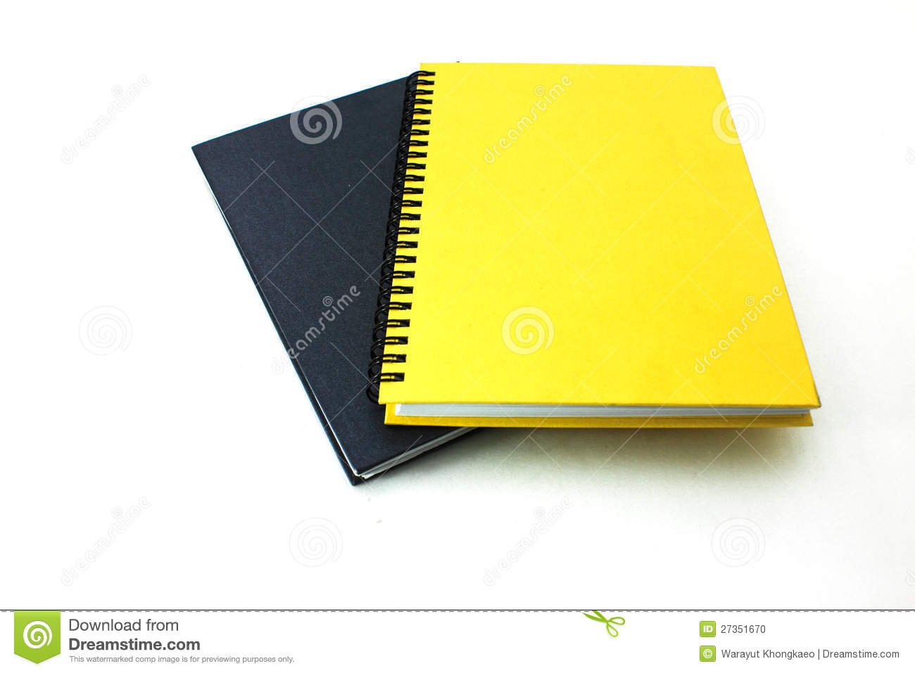 Book With Black And Yellow Cover : Black and yellow books on white background stock photo