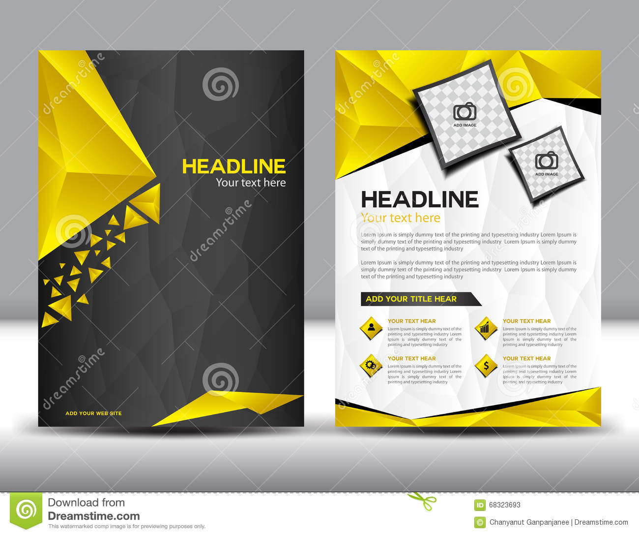 Black And Yellow Business Brochure Flyer Design Layout Template – Business Brochure Design