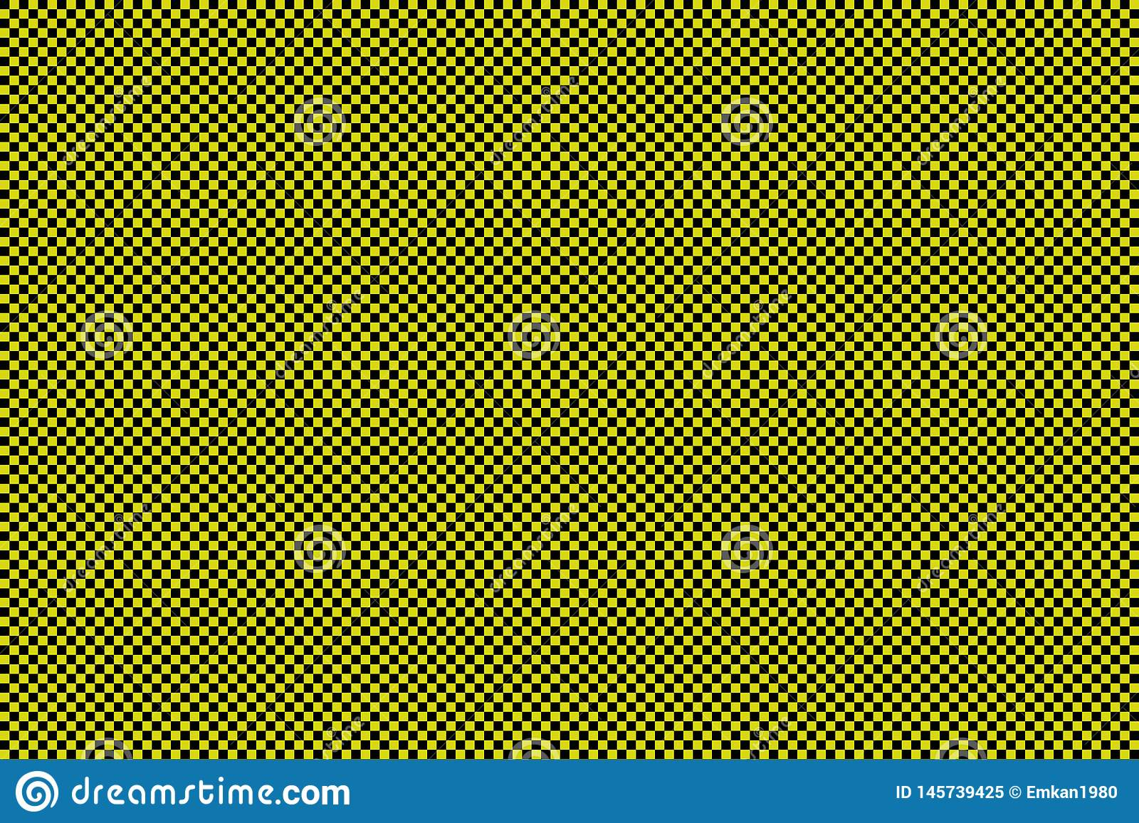 Black and yellow checkerboard background -Vector ilustration - EPS 10