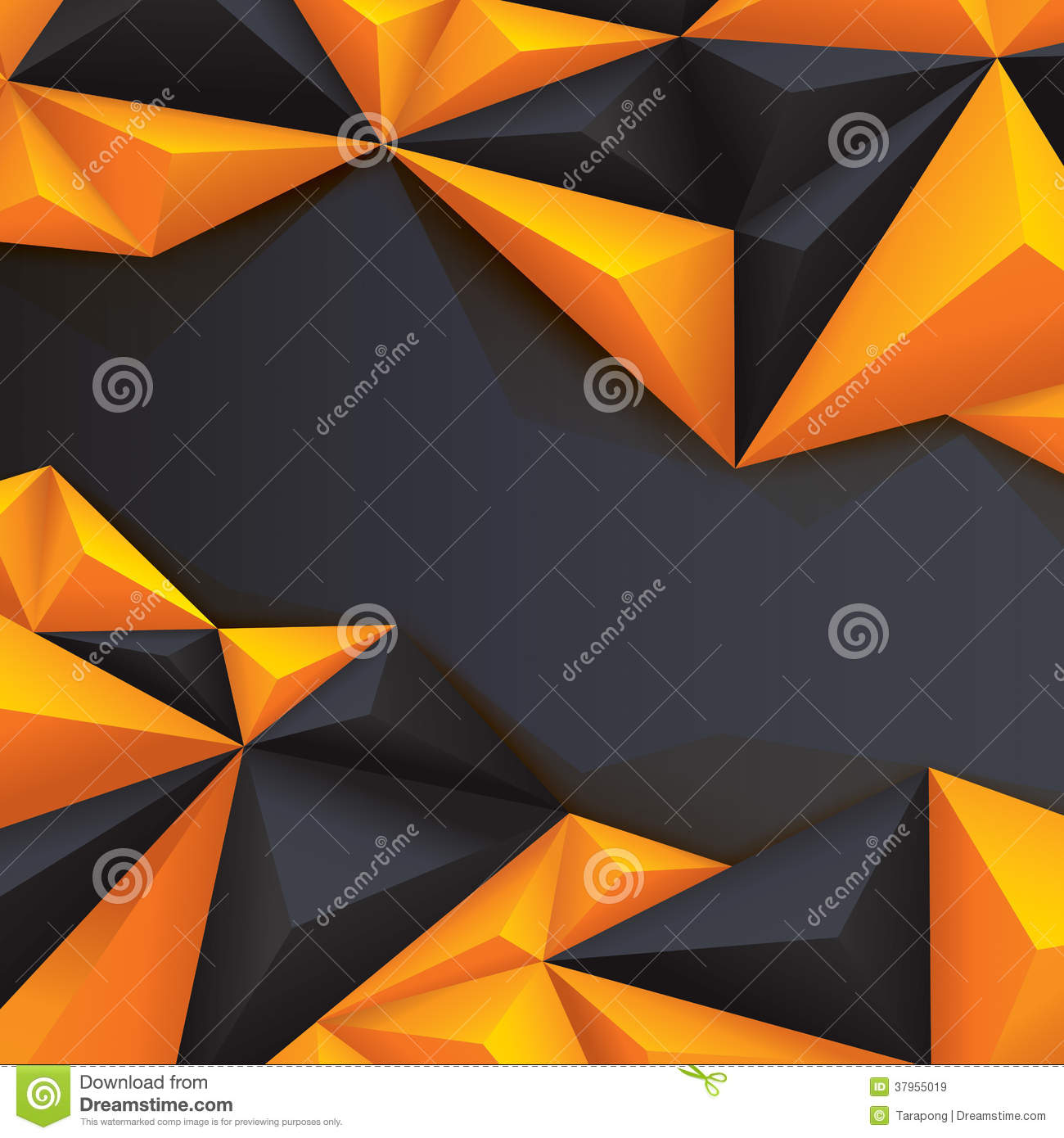 black and yellow geometrical background polygonal royalty