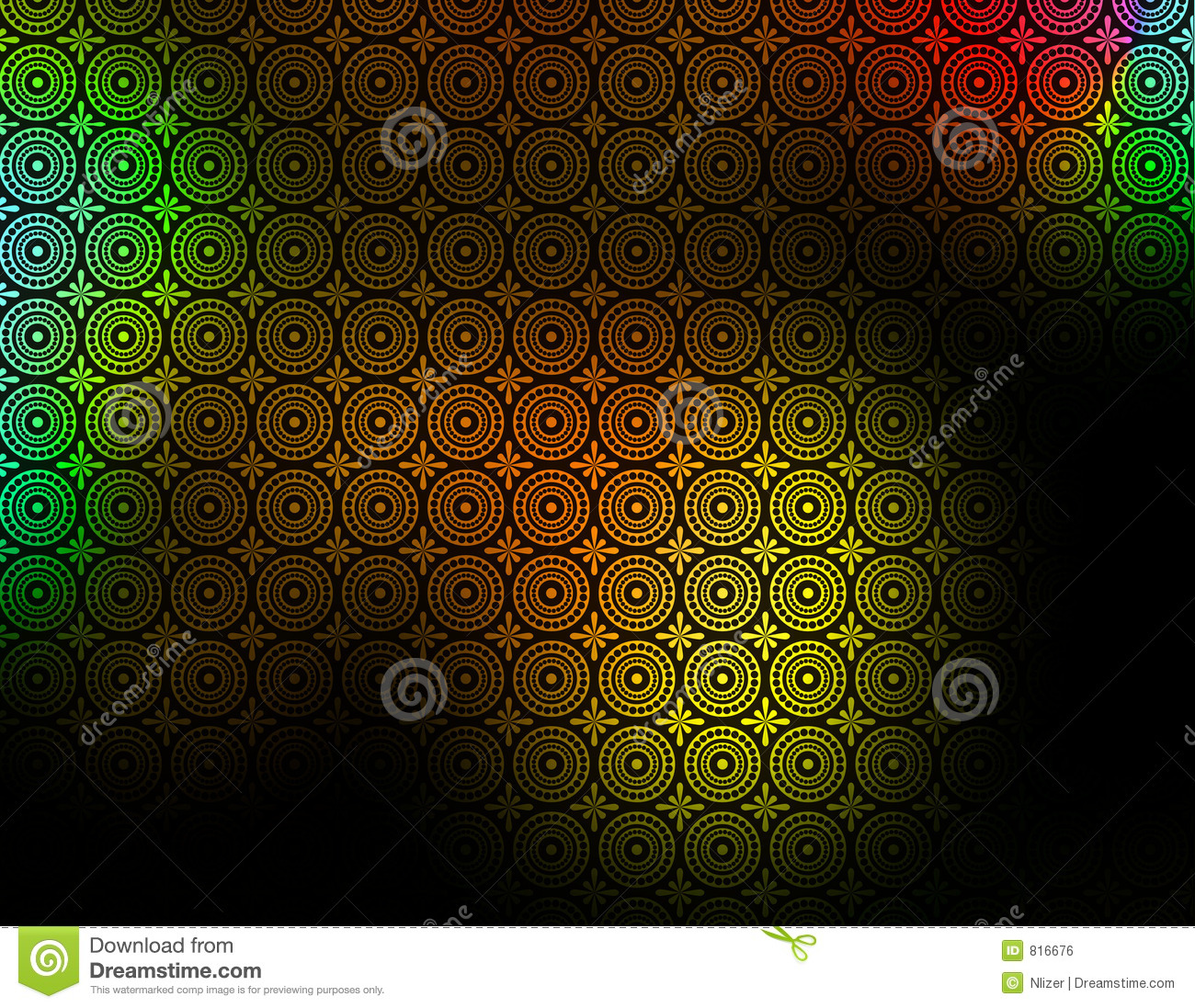 Black Yellow Red Green Patterned Background wallpaper