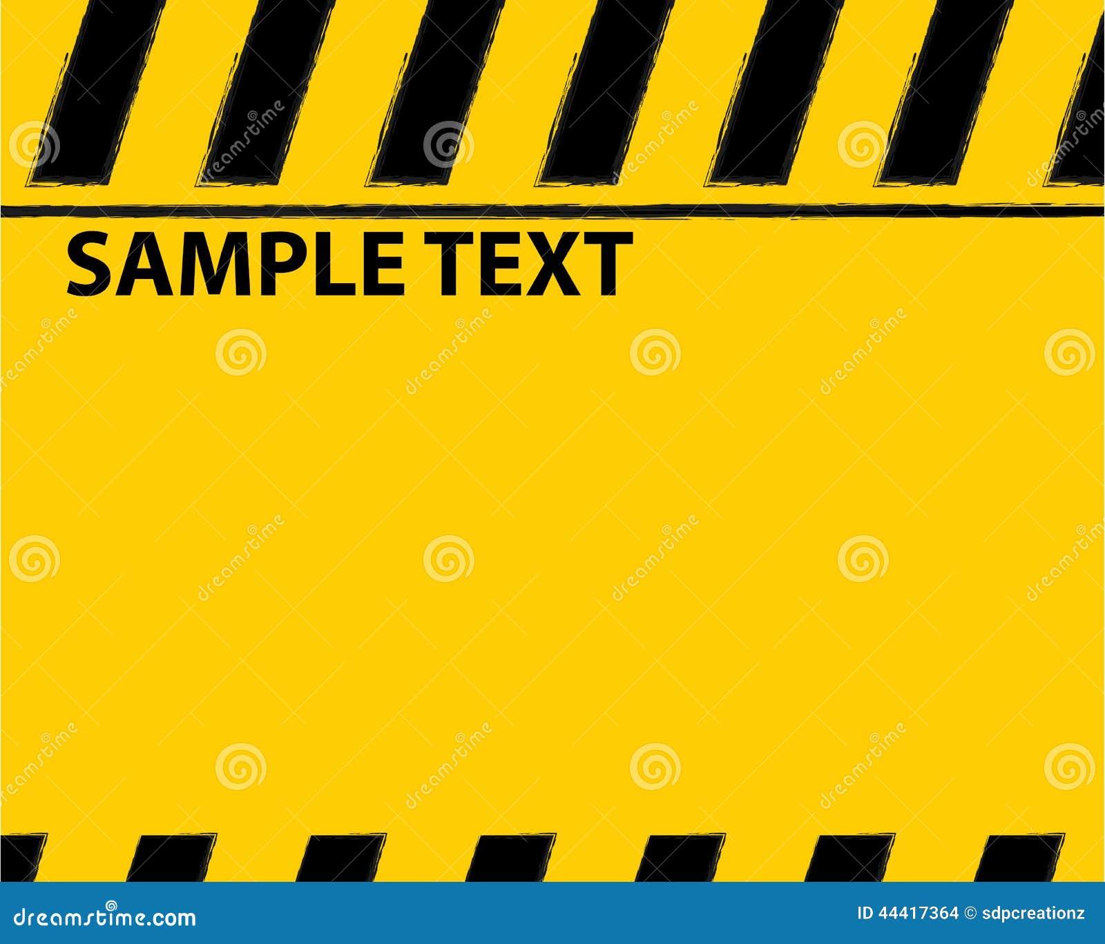 text warning black background - photo #14