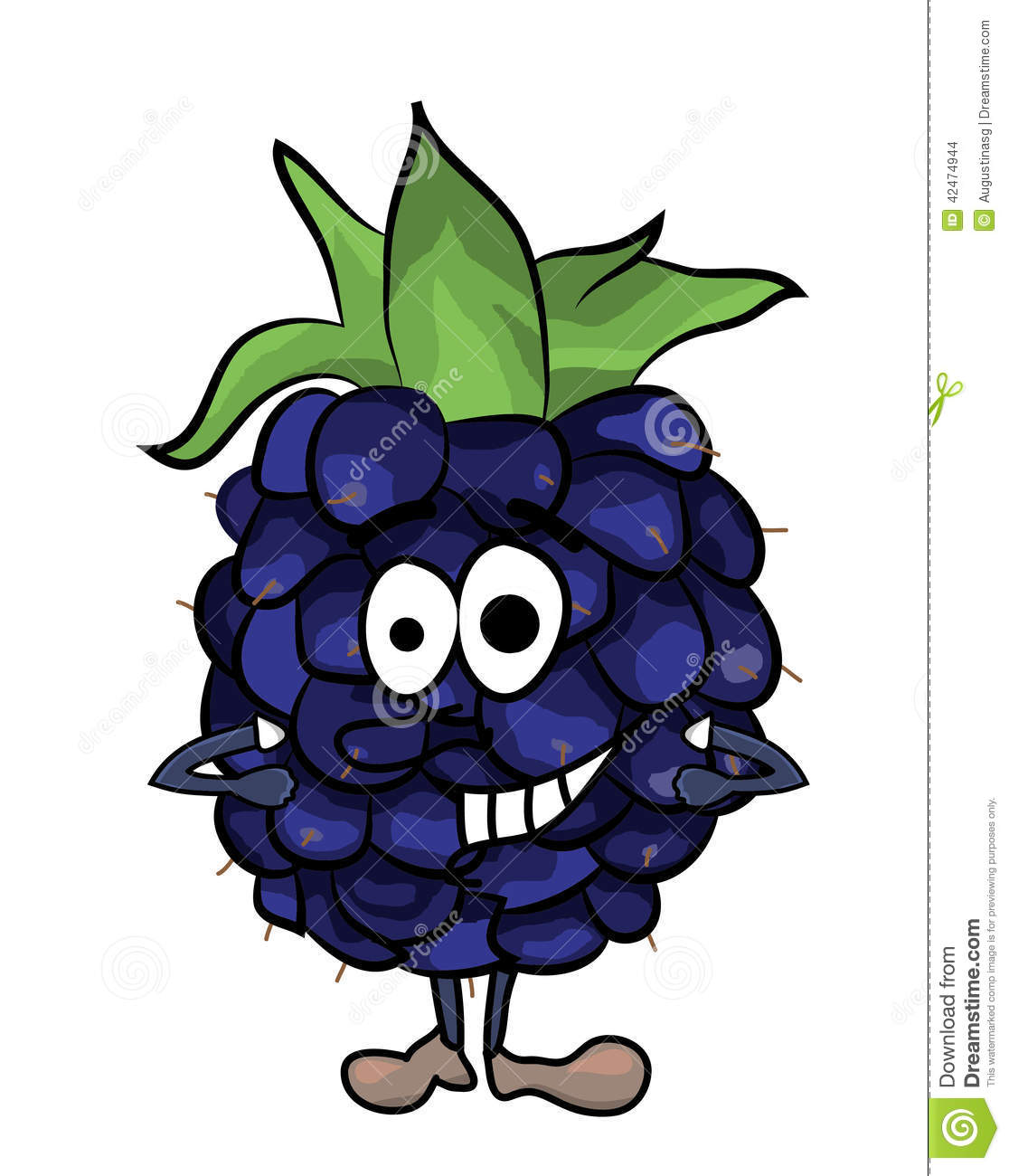 Blackberry-Fruchtkarikaturillustration