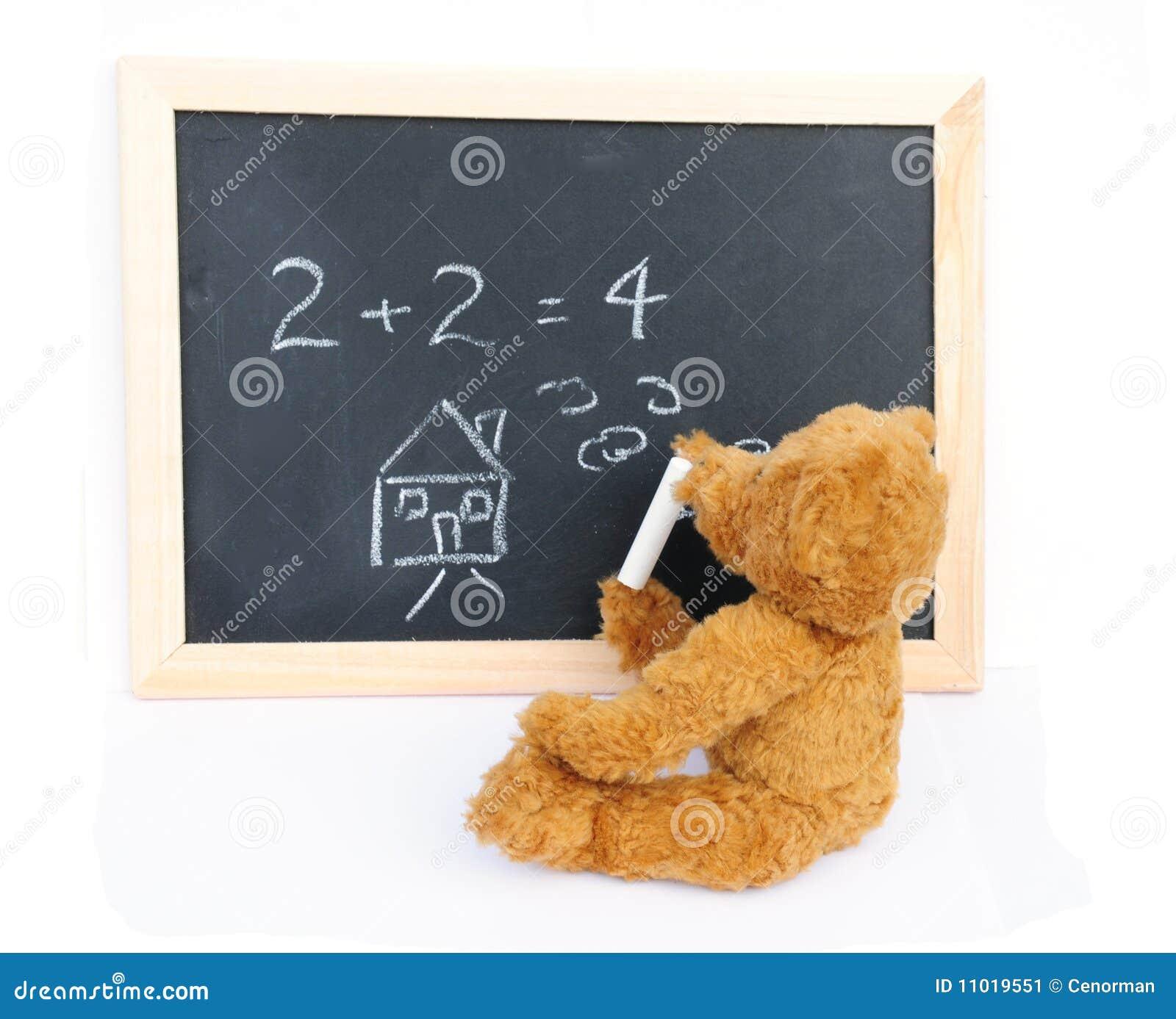 Blackboard and bear