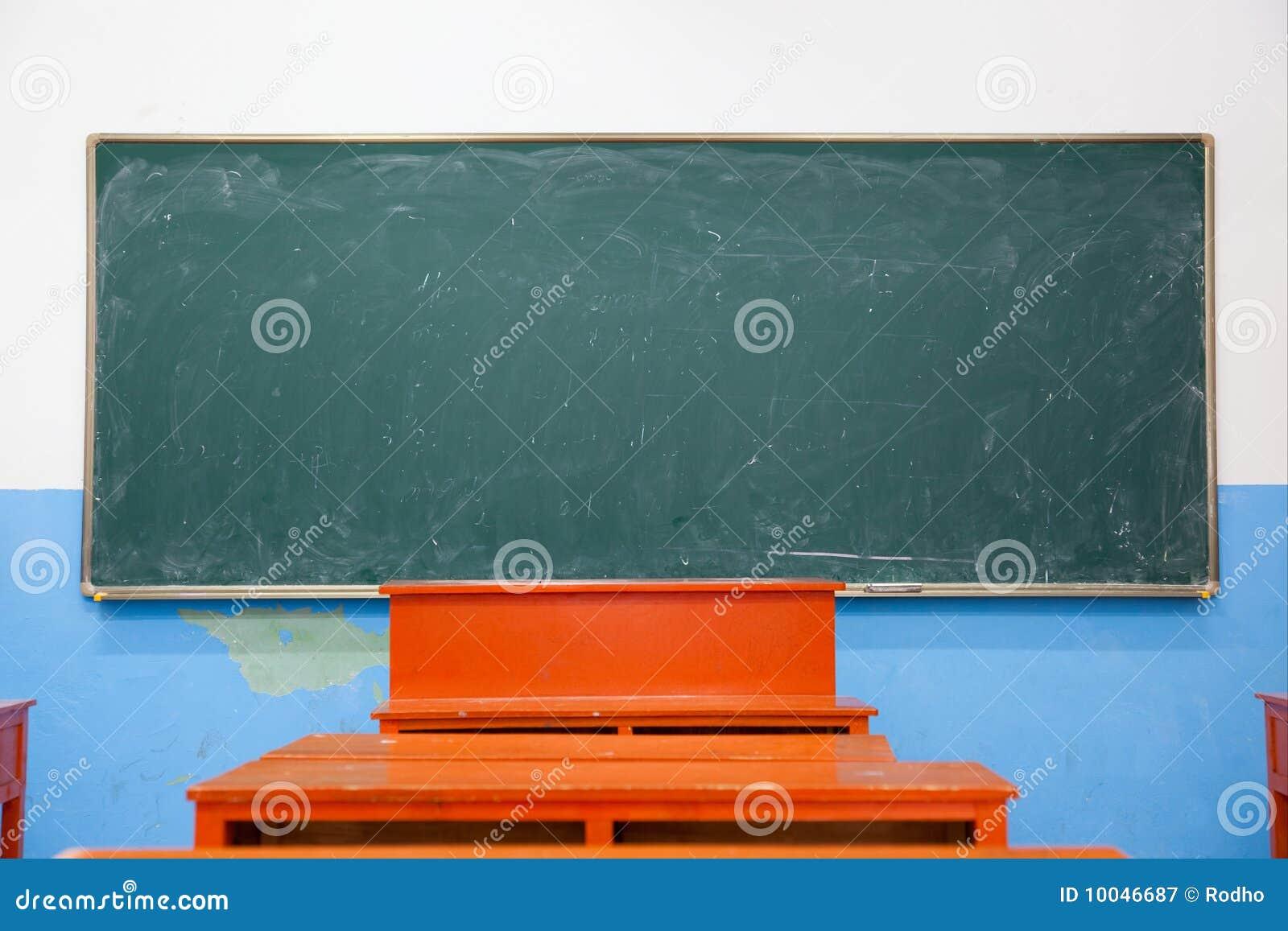 Classroom Blackboard Design ~ Blackboard in classroom royalty free stock photography