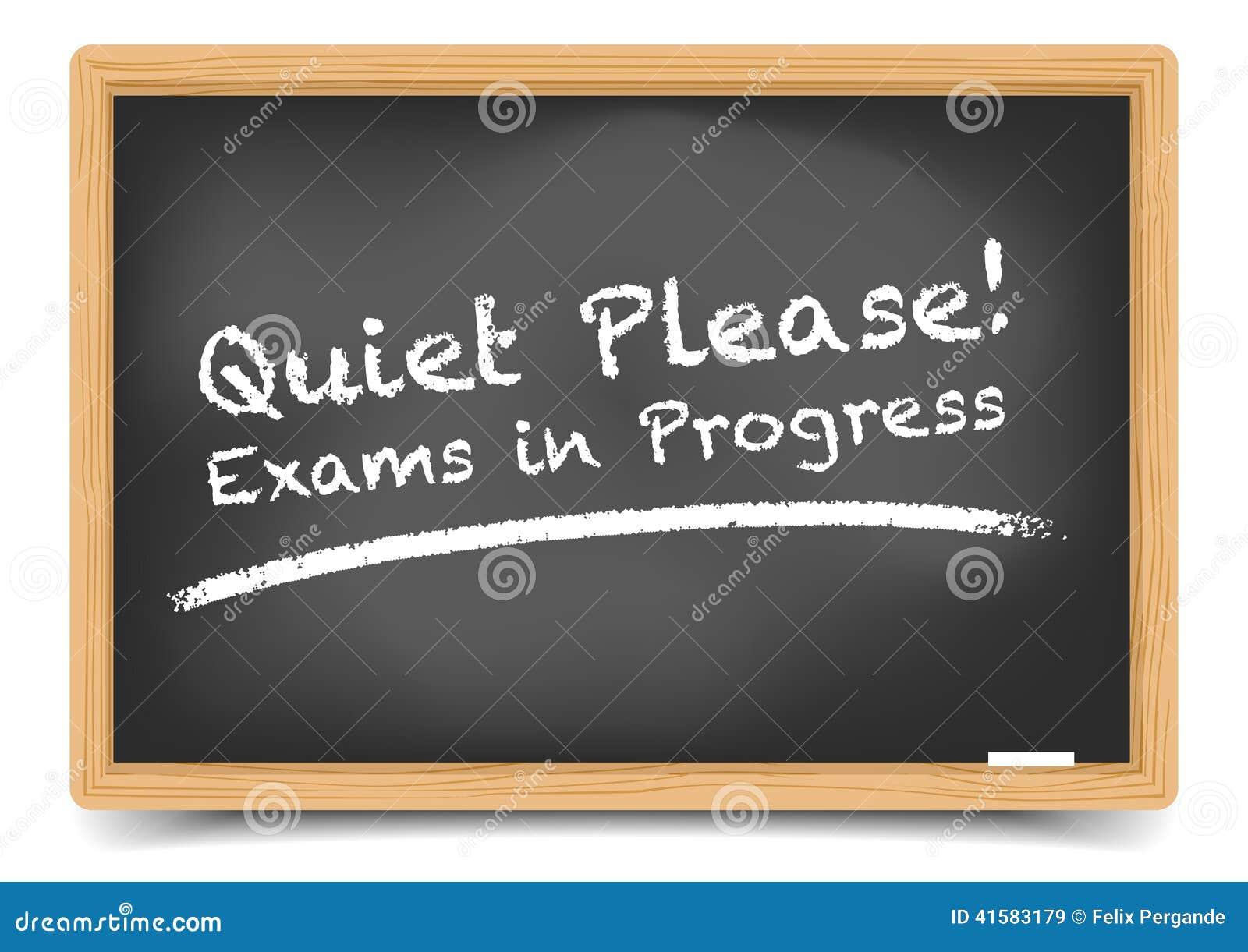 Quiet Please Testing Sign Blackboard Exam