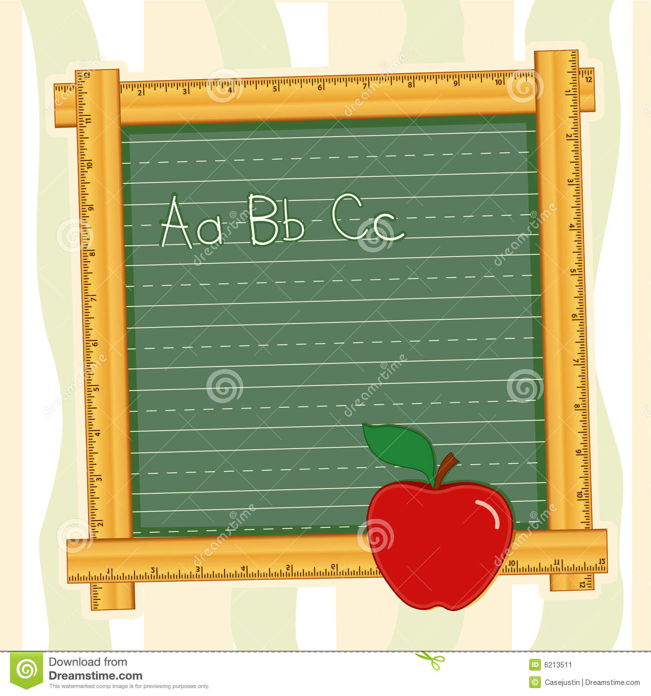 Blackboard Frame Abcs Apple For The Teacher Stock Vector