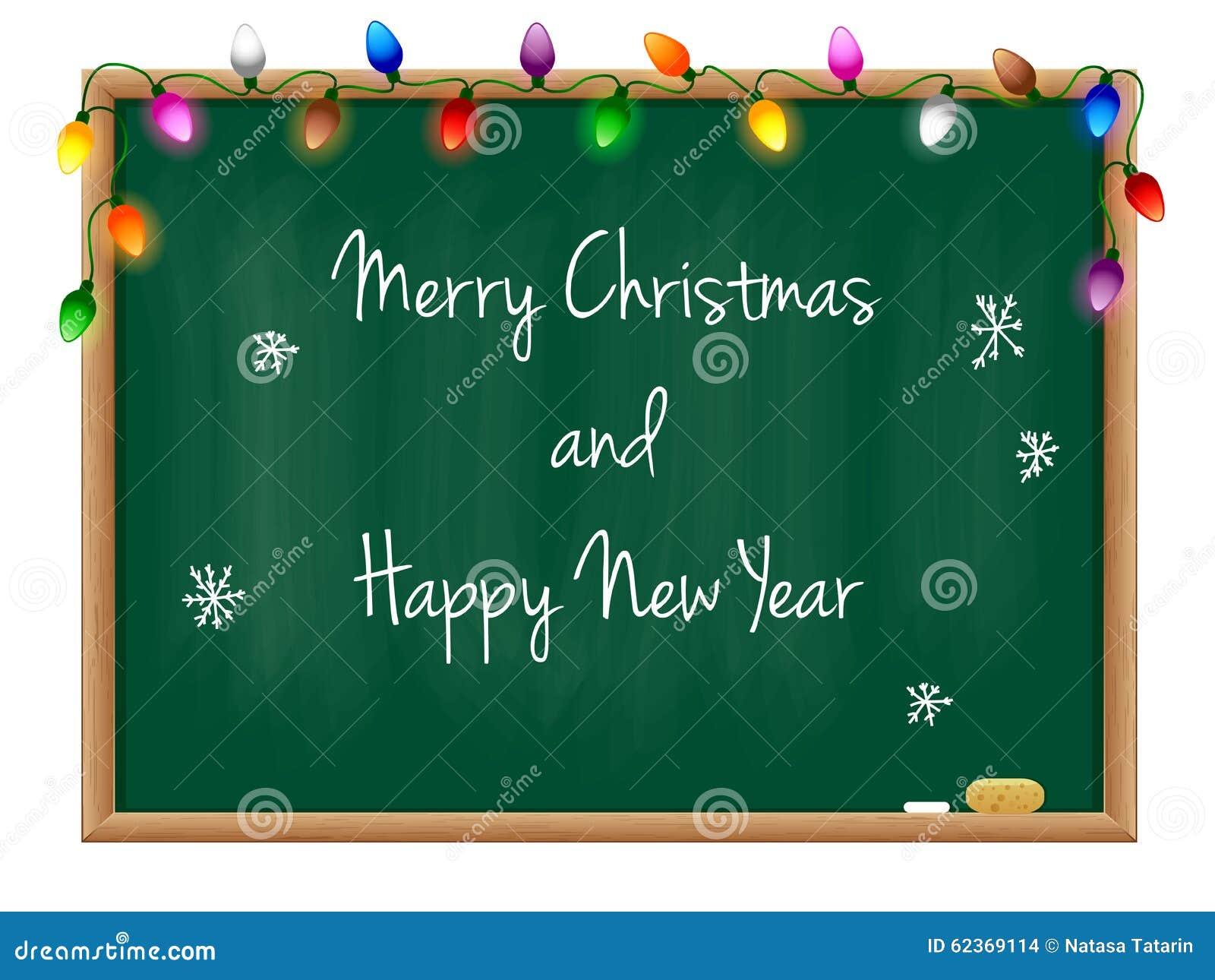 Blackboard Happy New Year