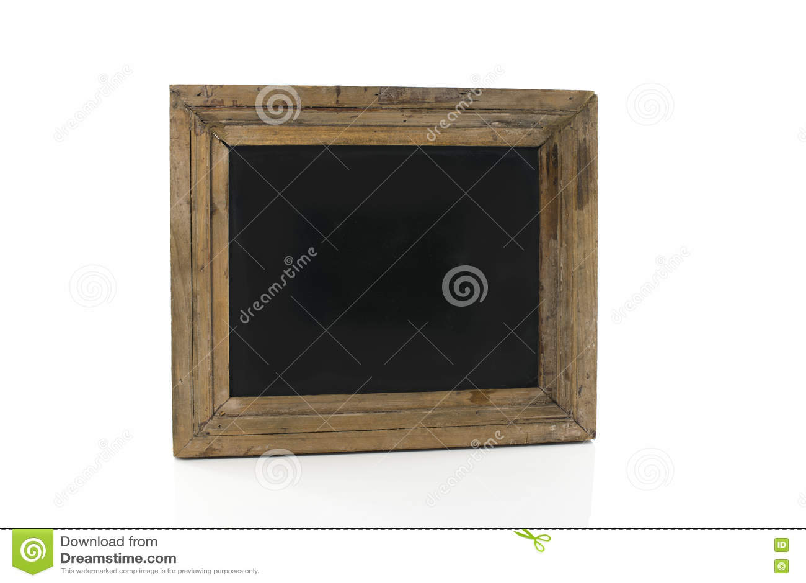 Blackboard isolerad white