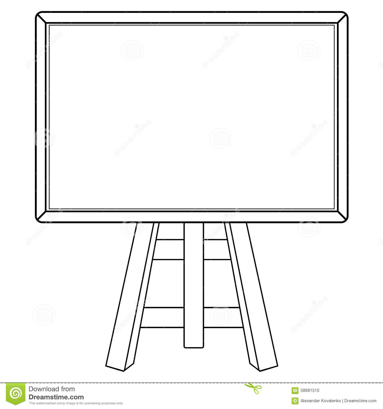 Blackboard Stock Illustration - Image: 58681510