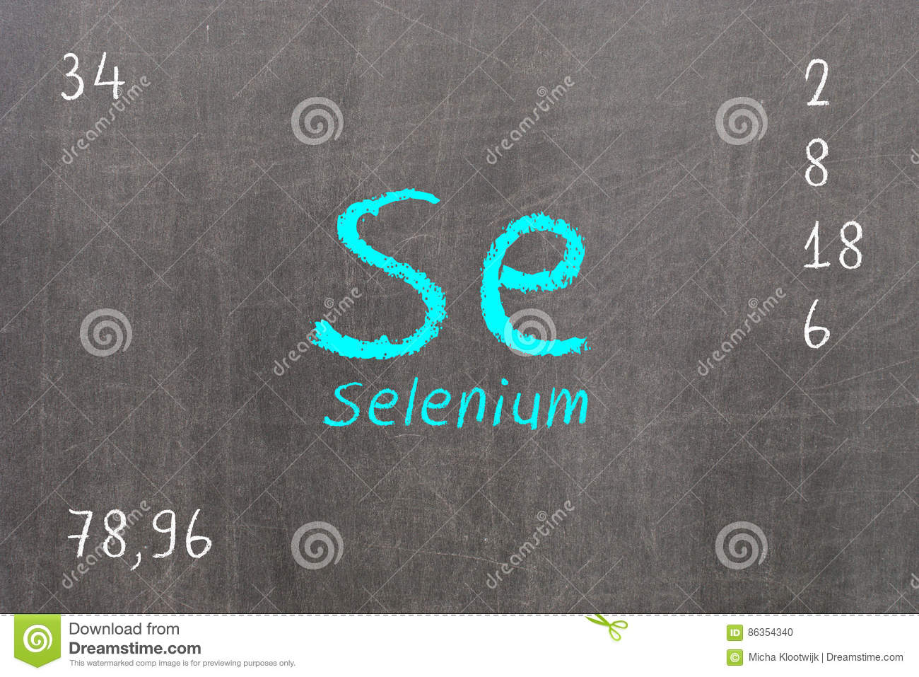 Blackboard with periodic table selenium stock illustration royalty free stock photo download blackboard with periodic table selenium gamestrikefo Images