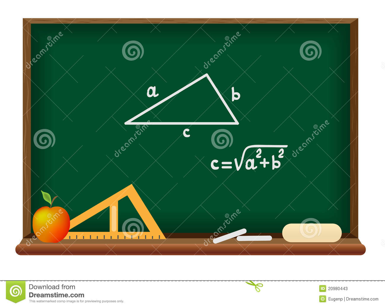 blackboard school geometry stock photos image 20980443