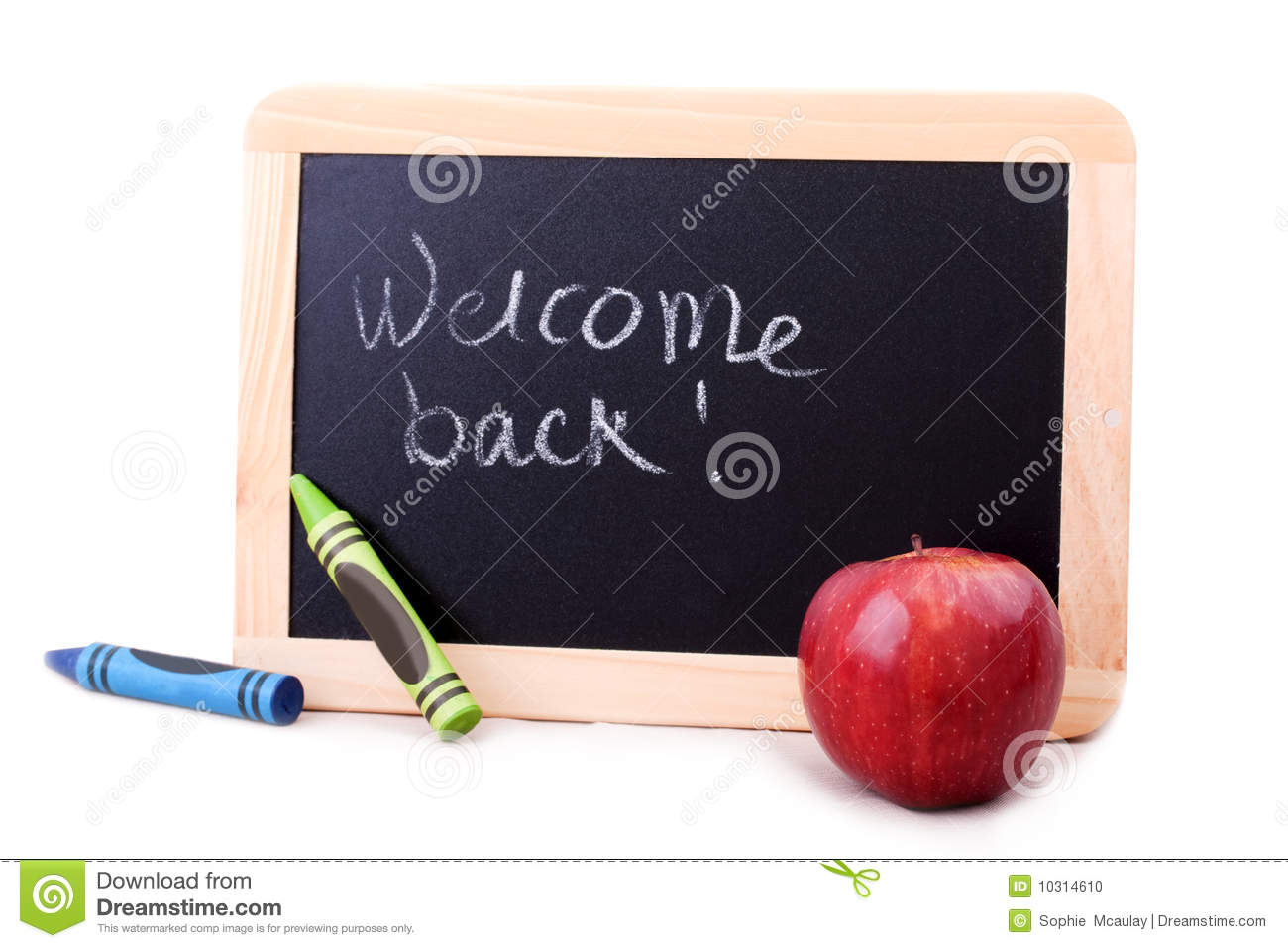Blackboard With Welcome Back Message Stock Photo - Image of