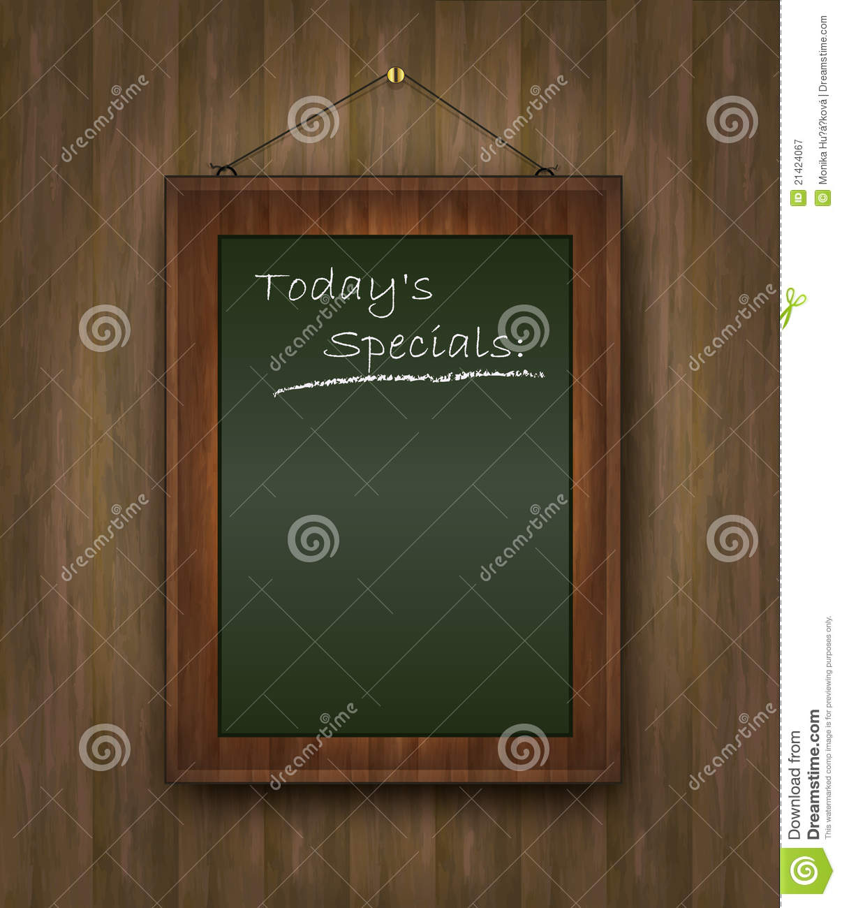 Blackboard Wood Menu Todays Special Green Royalty Free – Specials Menu Template