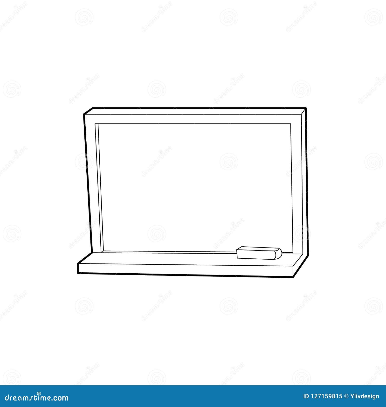 Blackboard z kredową ikoną, konturu styl