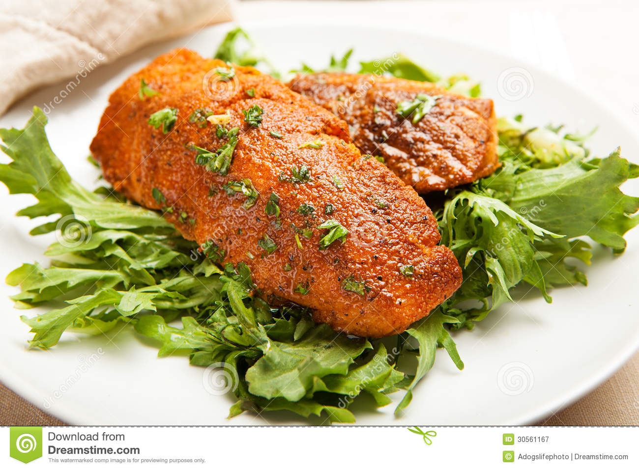 Letuce And Fish Cakes