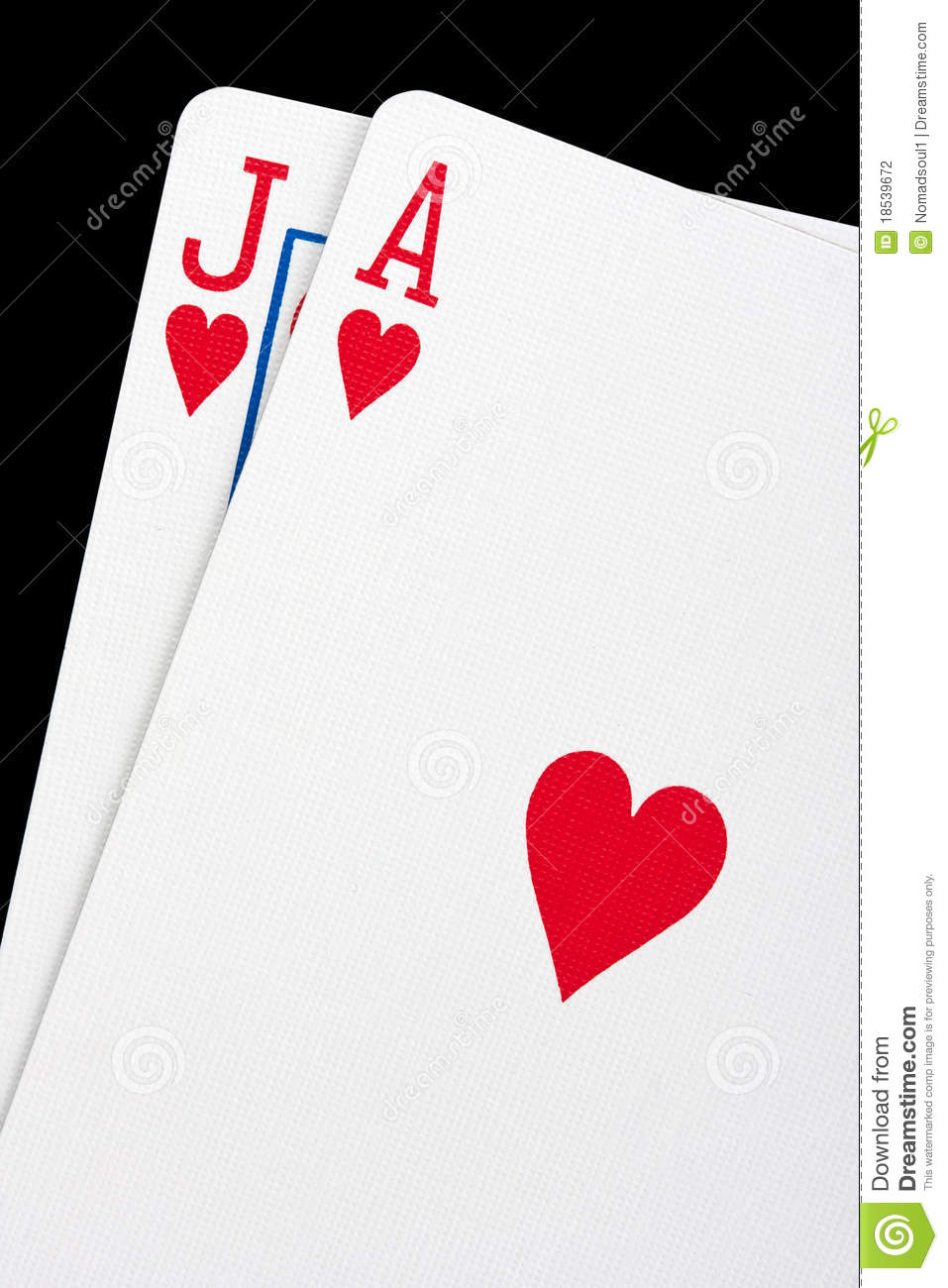 In blackjack are both cards face up