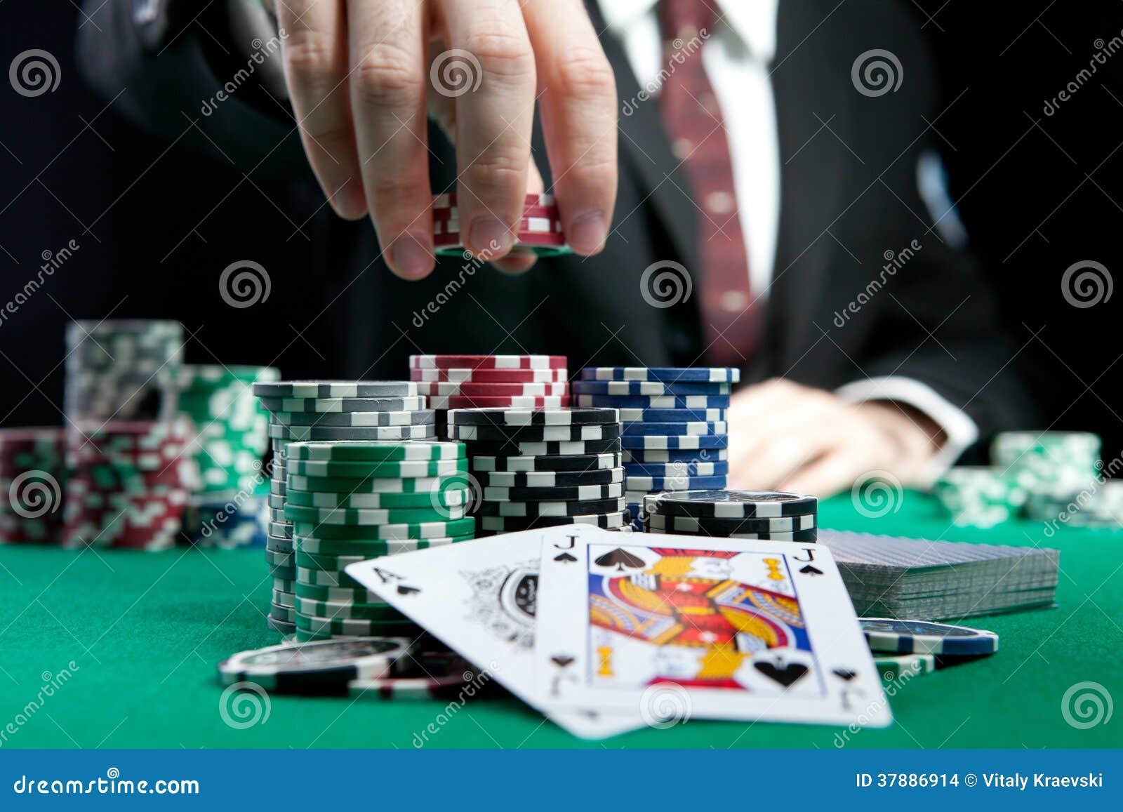 Blackjack in een casino