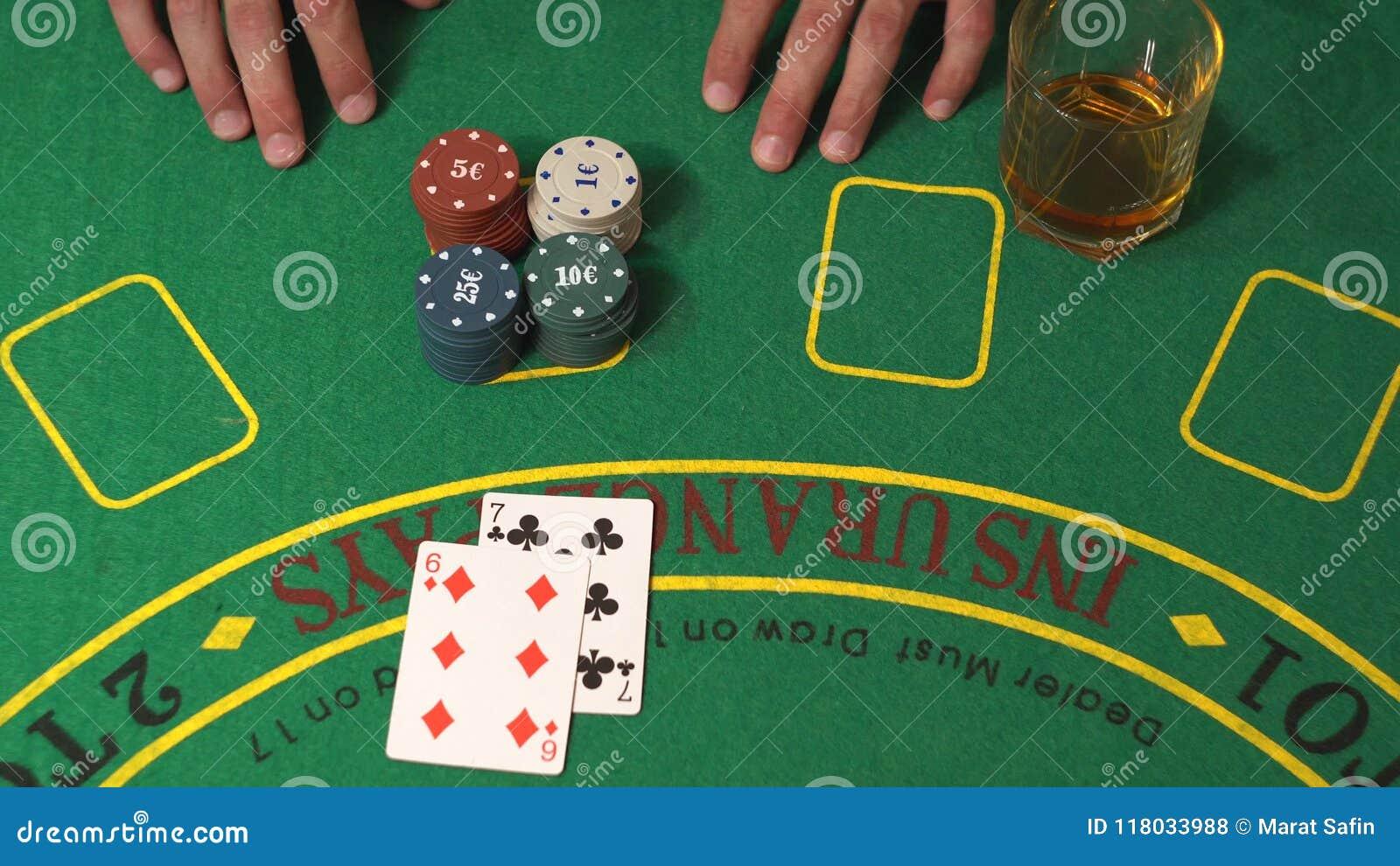 Blackjack Gambling Player Risk Get Lucky 21 Win In Casino