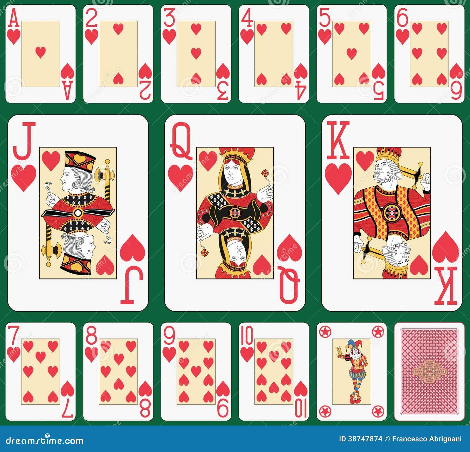Blackjack Heart suit large index